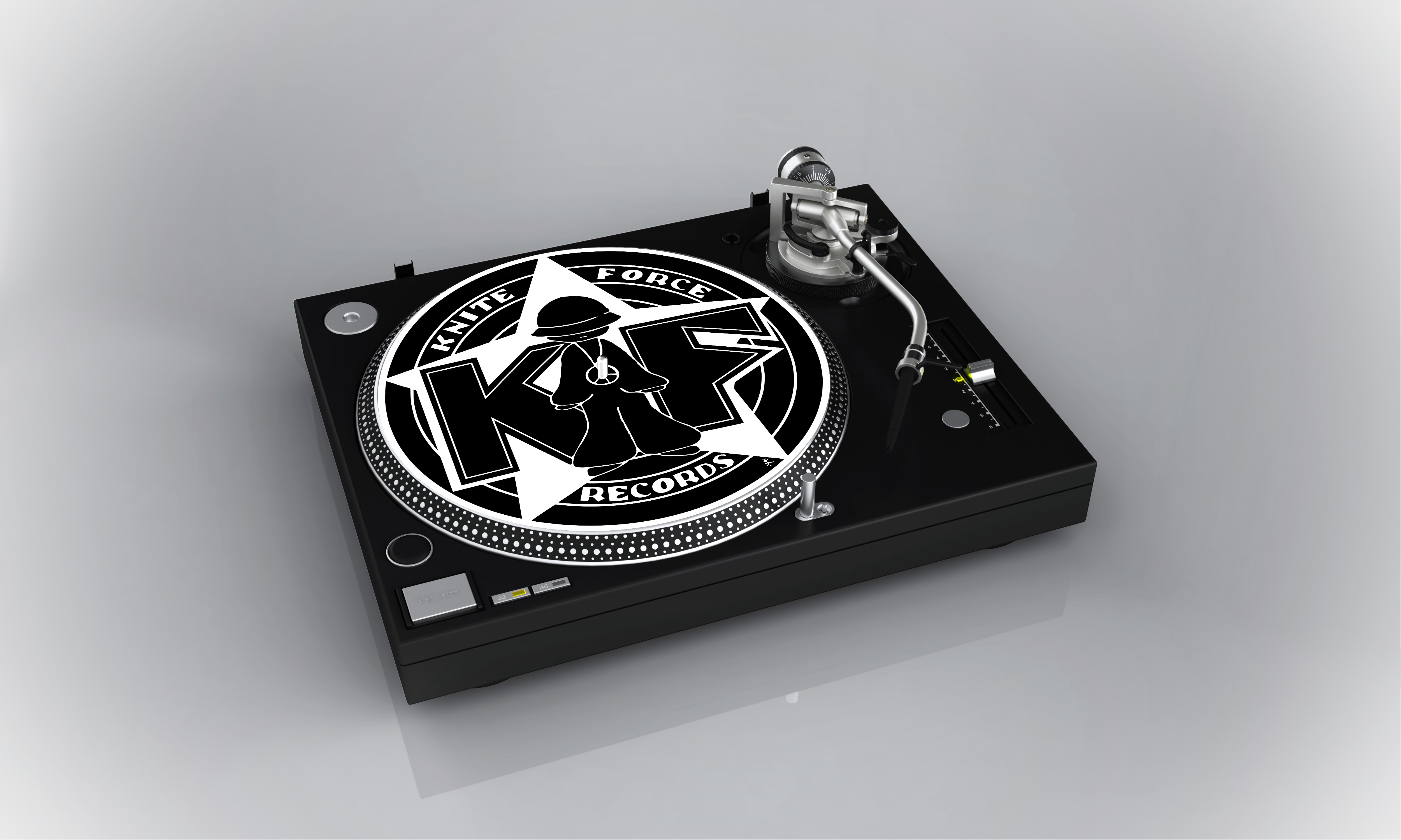 Kniteforce Records Slipmat (Choose your own colour)