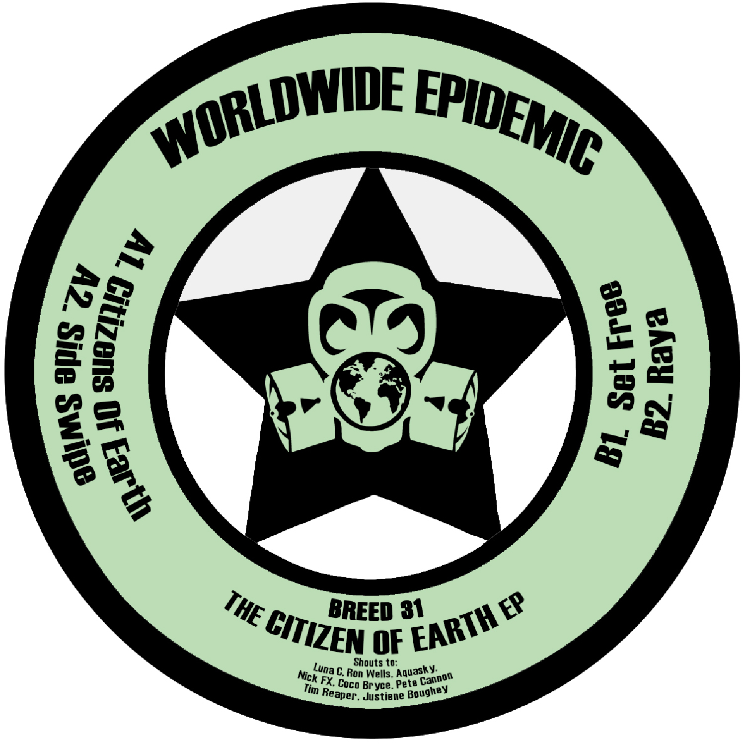 "[BREED31] Worldwide Epidemik - The Citizen Of Earth EP (12"" Vinyl + Digital)"