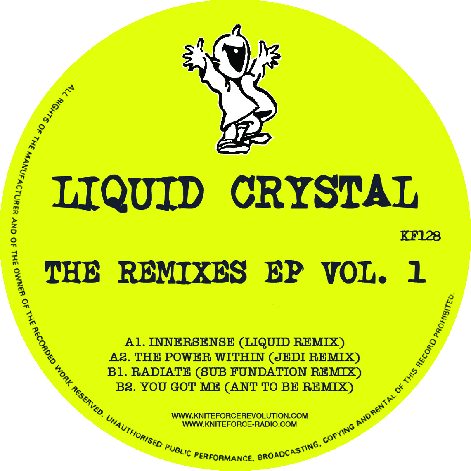 "[KF128] Liquid Crystal - The Liquid Crystal Remixes EP Vol. 1 (12"" Vinyl + Digital)"