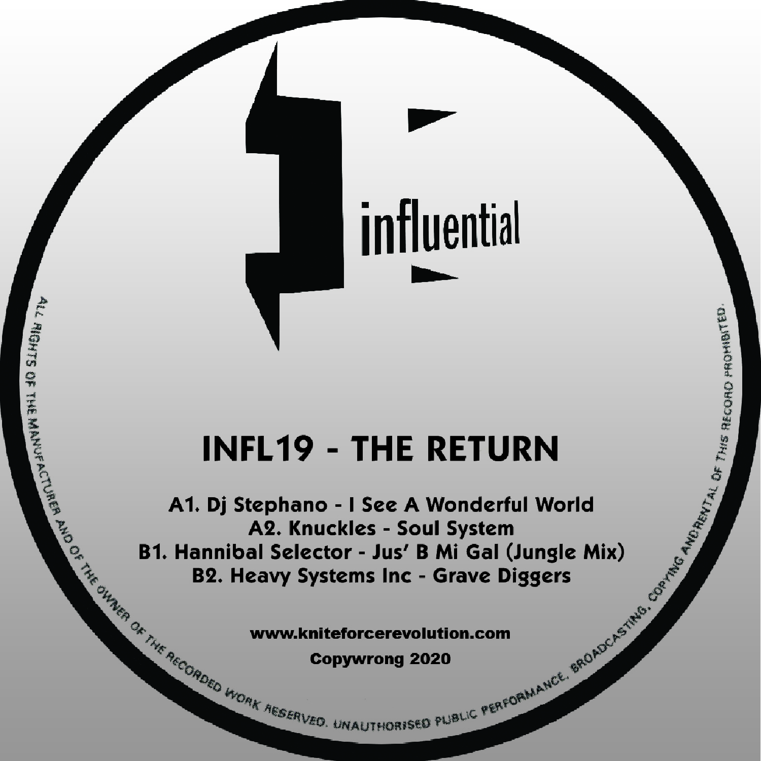 "[INFL19] Various - The Return EP (12"" Vinyl + Digital)"