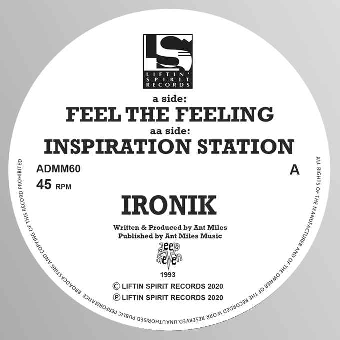 "[ADMM60] Ironik - Feel The Feeling EP (12"" Vinyl)"