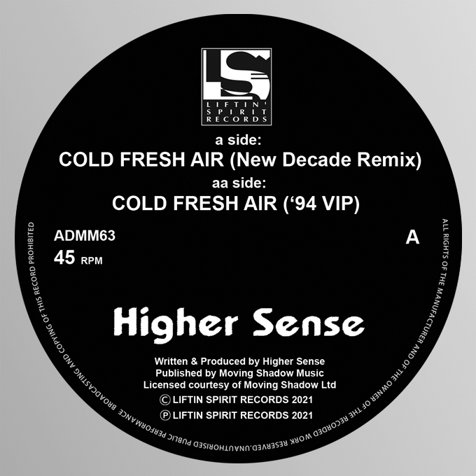 "[ADMM63] Higher Sense - Cold Fresh Air Remixes EP (12"" Vinyl)"