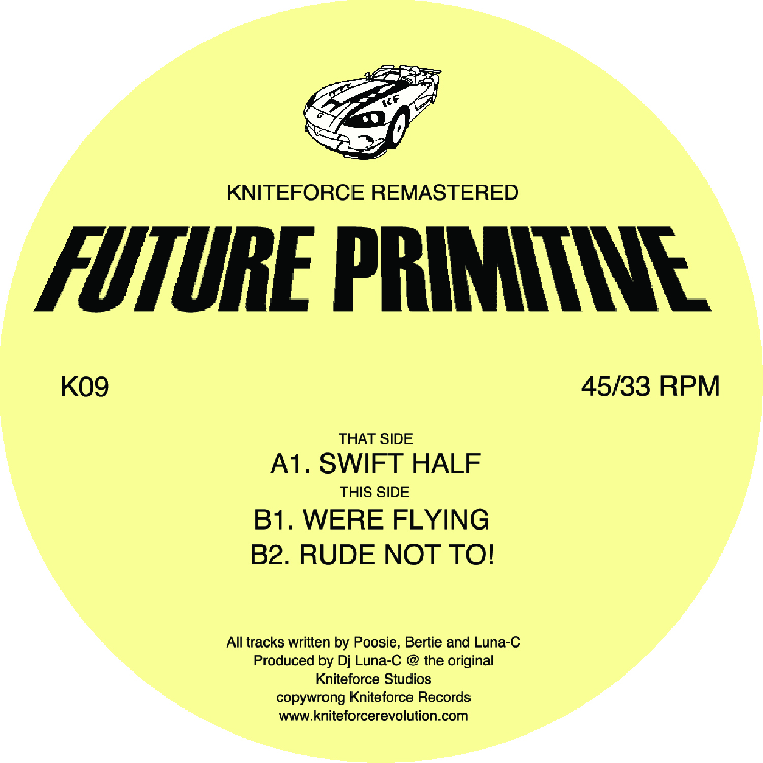 "[K09] Future Primitive - Swift Half EP (Remastered) (12"" Vinyl + Digital)"
