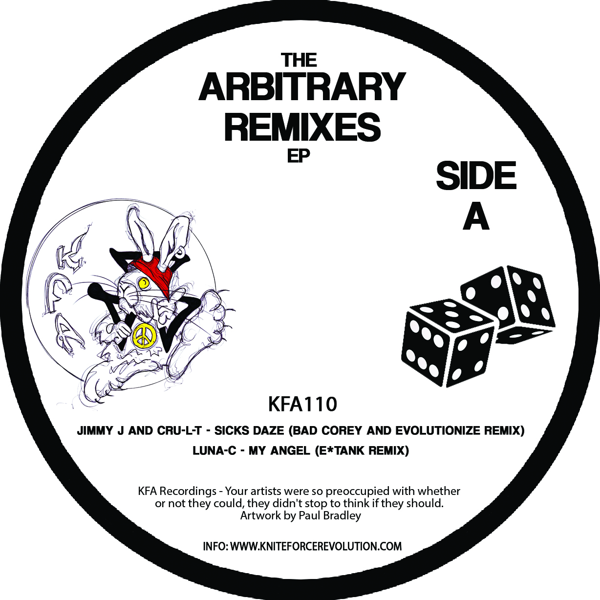 "[KFA110] Various - The Arbitary Remixes EP (12"" Vinyl + Digital)"