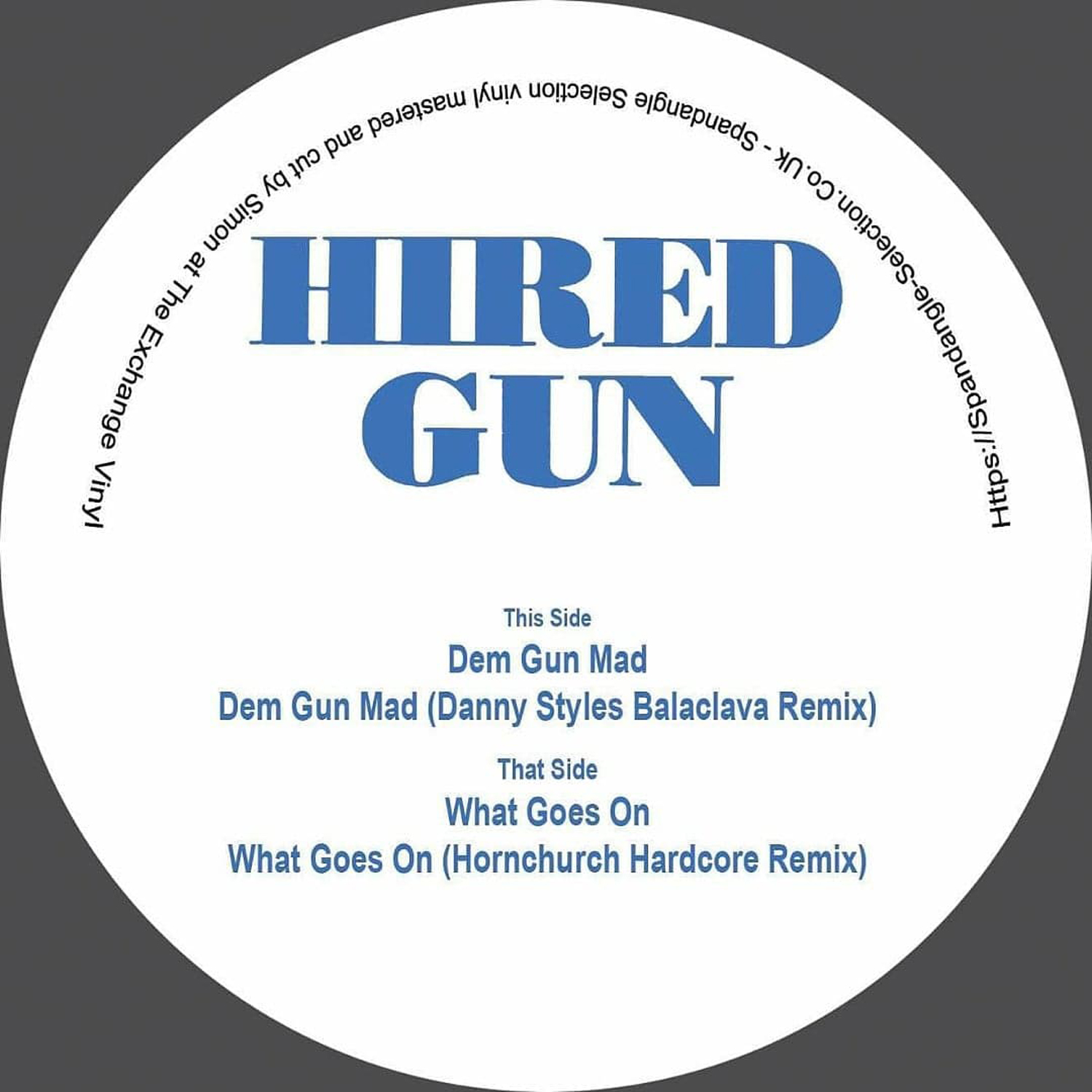 "[SSV12] Hired Gun - Dem Gun Mad EP (Remastered) (12"" Vinyl)"