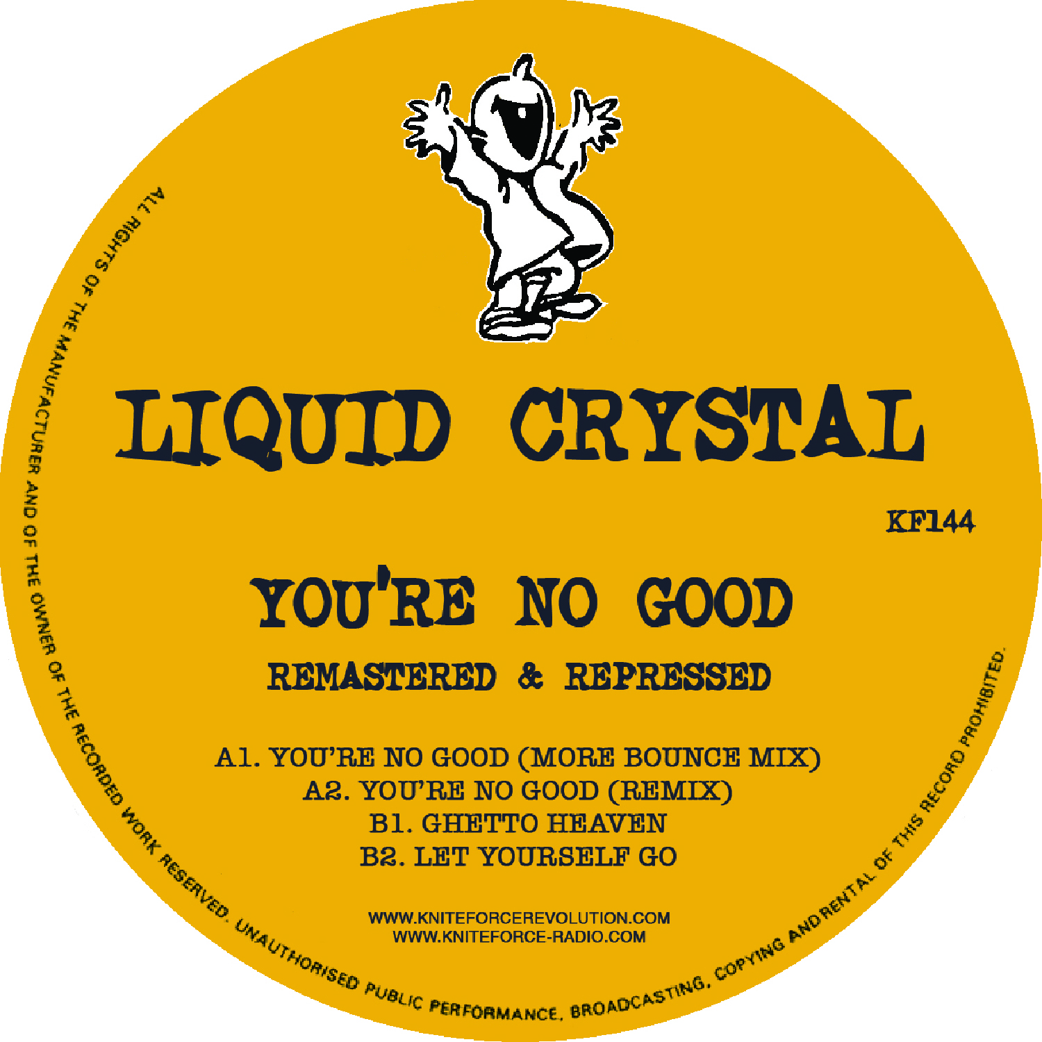 "[KF144] Liquid Crystal - You're No Good EP (12"" Vinyl + Digital)"