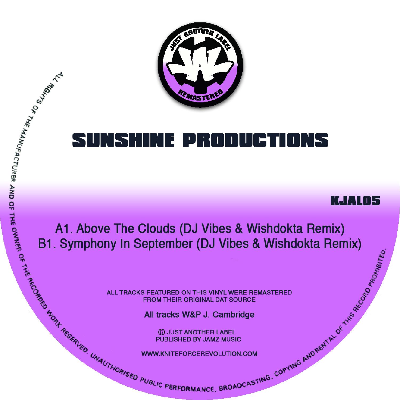 """[KJAL05] Sunshine Productions - Above The Clouds (Remixes) EP (12"""" Vinyl + Digital)"""
