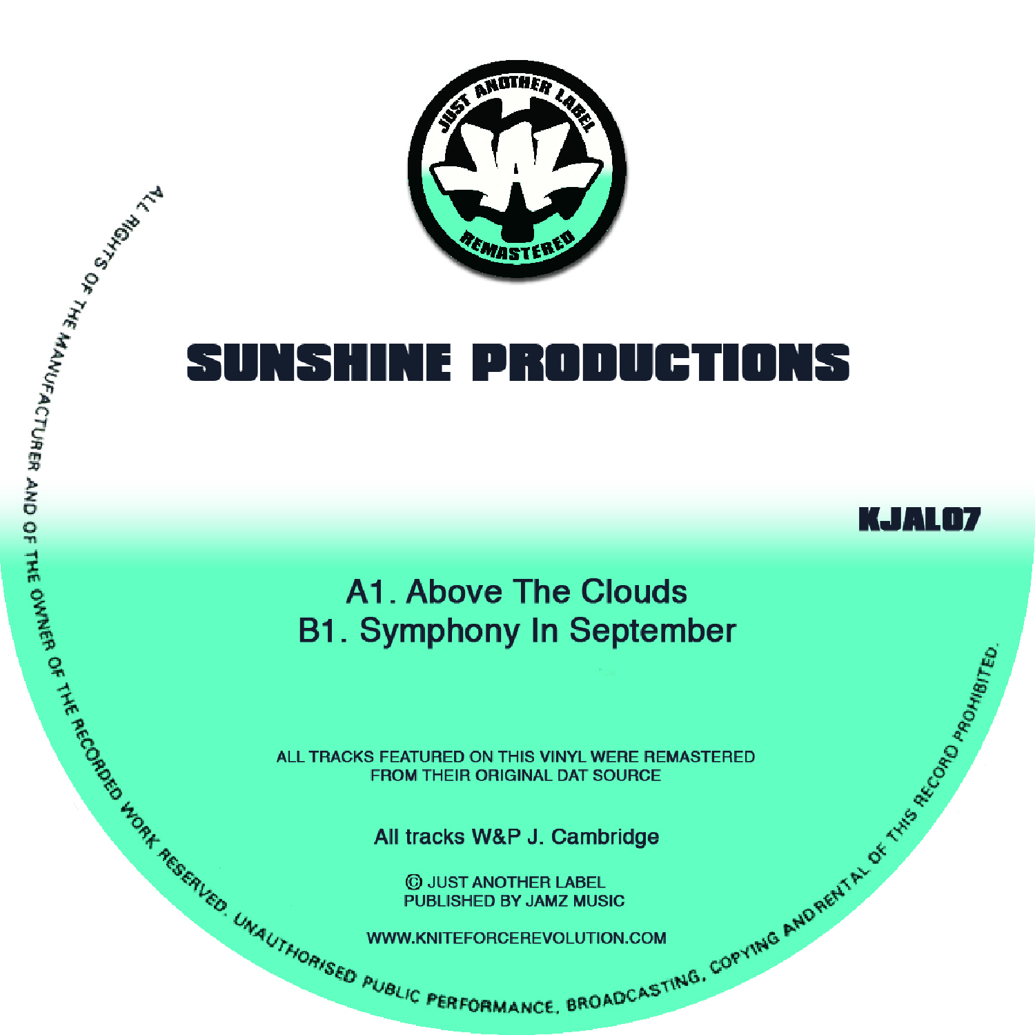 "[KJAL07] Sunshine Productions - Above The Clouds EP (12"" Vinyl + Digital)"