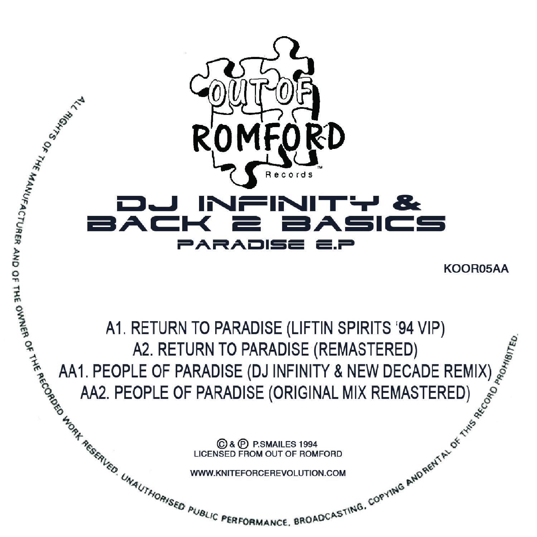 "[KOOR05] Dj Infinity & Back 2 Basics - Paradise EP (12"" Vinyl + Digital)"