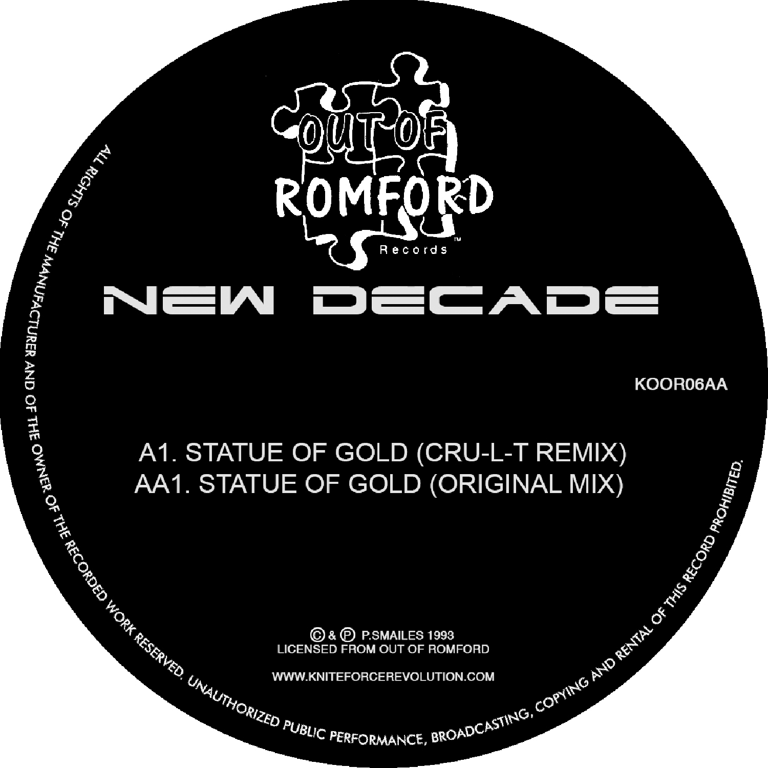 "[KOOR06] New Decade - Statue of Gold EP (12"" Vinyl + Digital)"