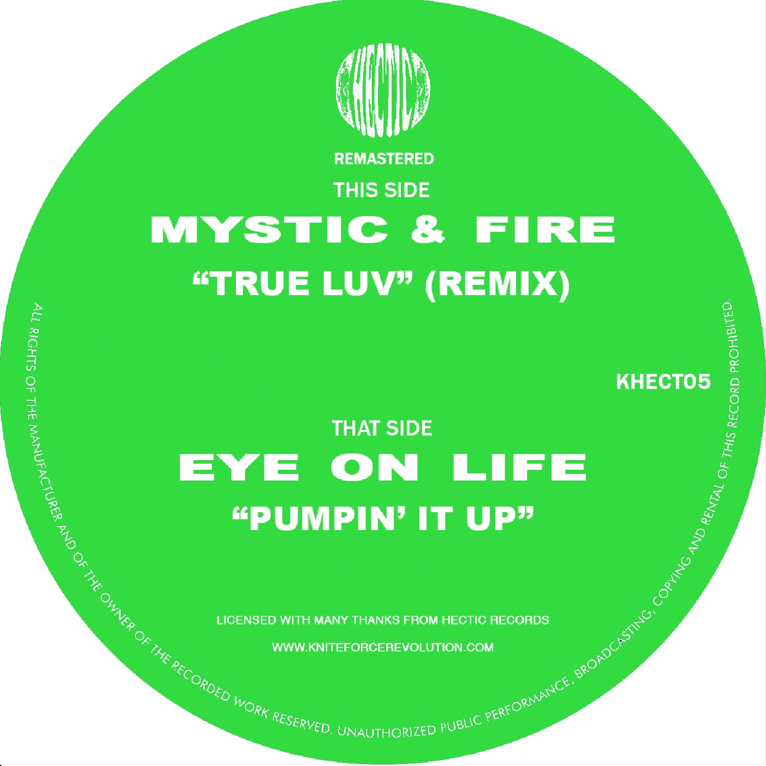 "[KHECT05] Mystic & Fire / Eye On Life - Tru Love / Pumpin It Up EP (12"" Vinyl + Digital)"