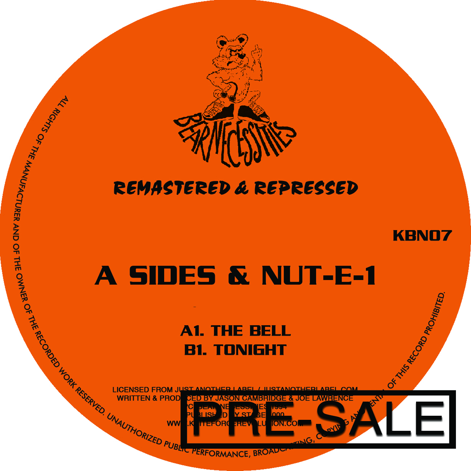 "[KBN07] A Sides & Nut-E-1 - The Bell / Tonight EP (12"" Vinyl)"