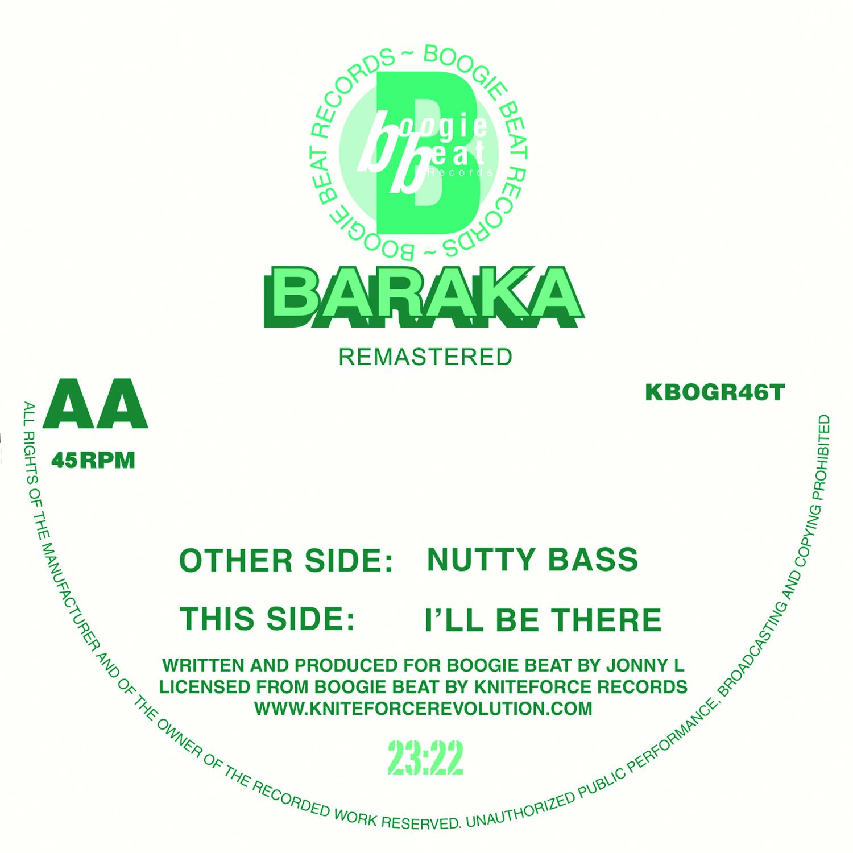 "[KBOGR46T] Baraka - Nutty Bass / I'll Be There EP (12"" Vinyl + Digital)"
