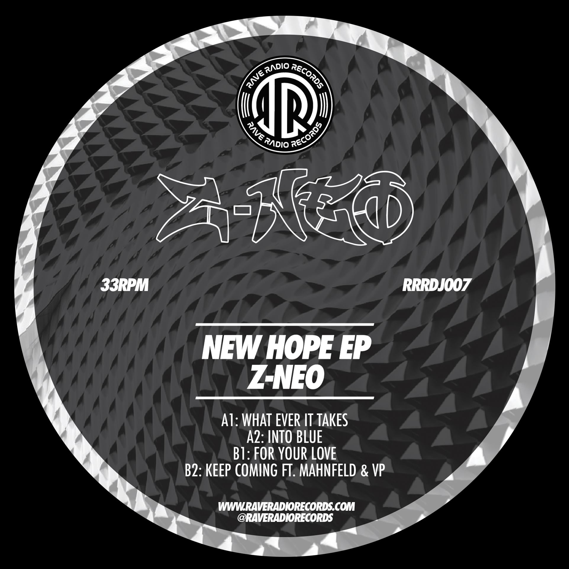 "[RRRDJ007] Z-Neo - New Hope EP (12"" Vinyl + Digital)"