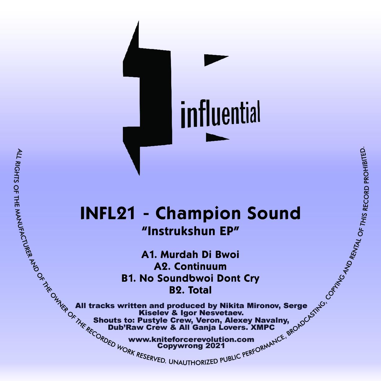 """[INFL21] Champion Sound - Instrukshun EP (12"""" Vinyl + Digital)"""