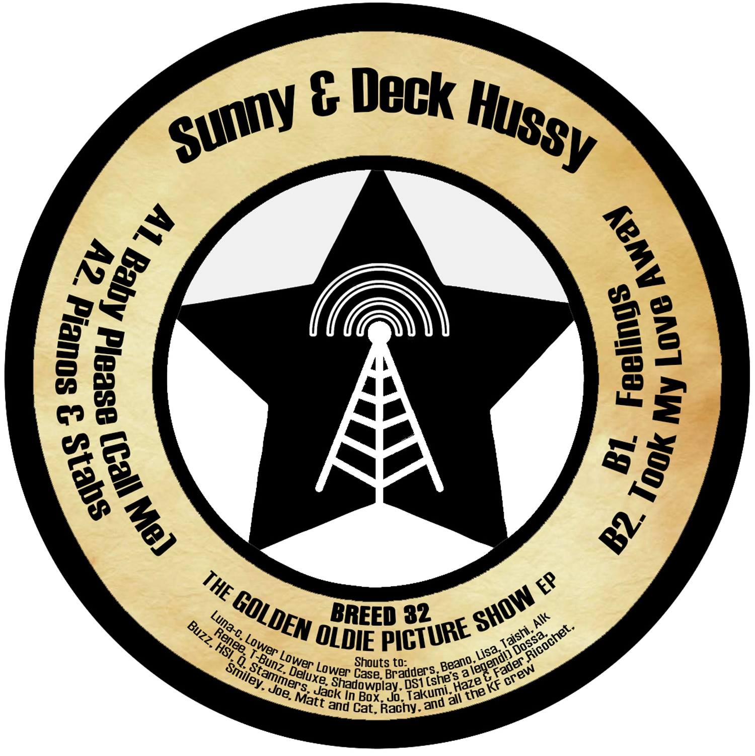 """[BREED32] Sunny & Deck Hussy - The Golden Oldie Picture Show EP (12"""" Vinyl + Digital)"""