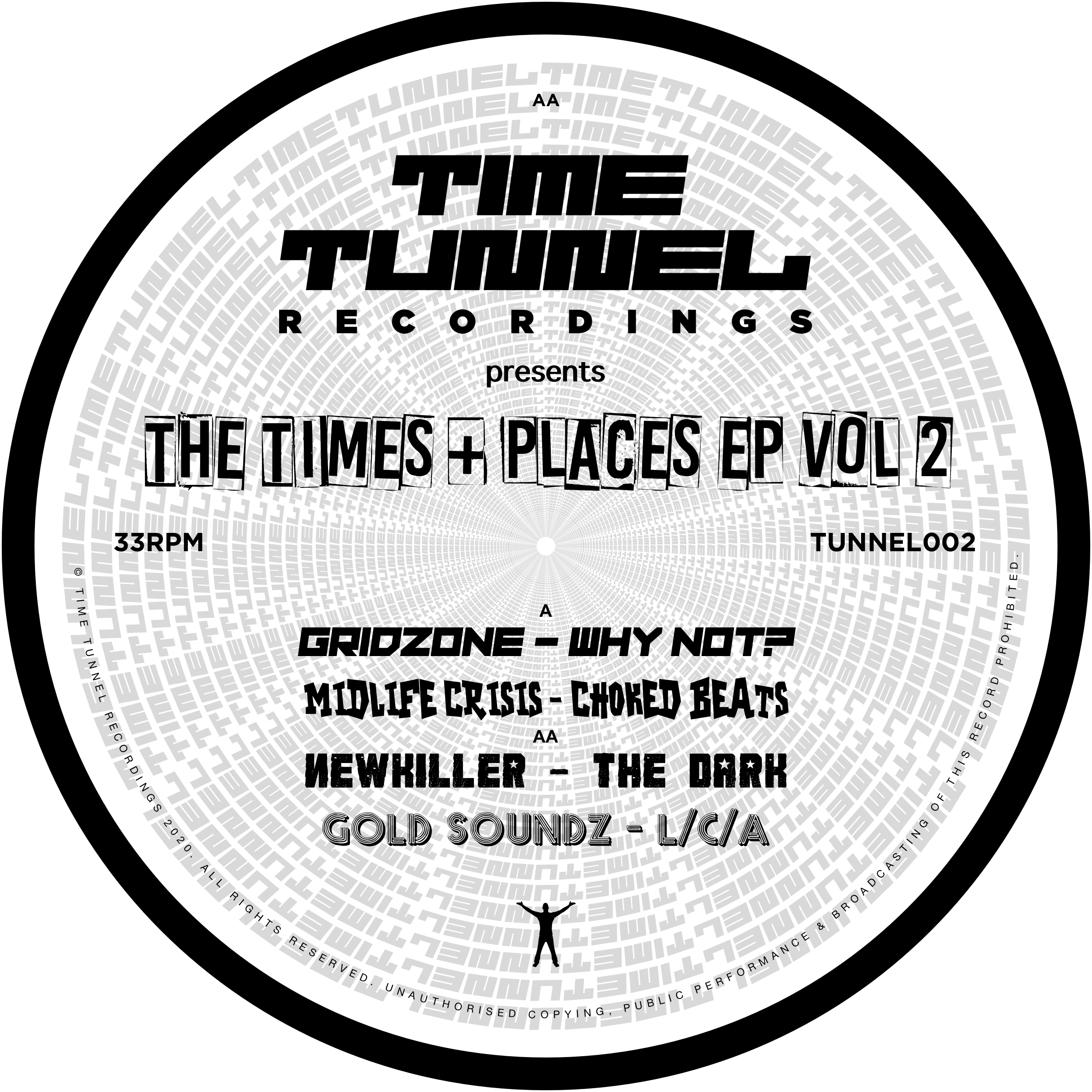 """[TUNNEL02] Various Artists - The Times & Places EP Vol. 2 (12"""" Vinyl)"""