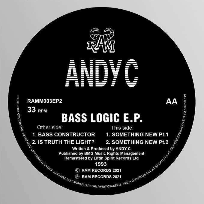 "[RAMM003] Andy C - Bass Logic EP (12"" Vinyl)"