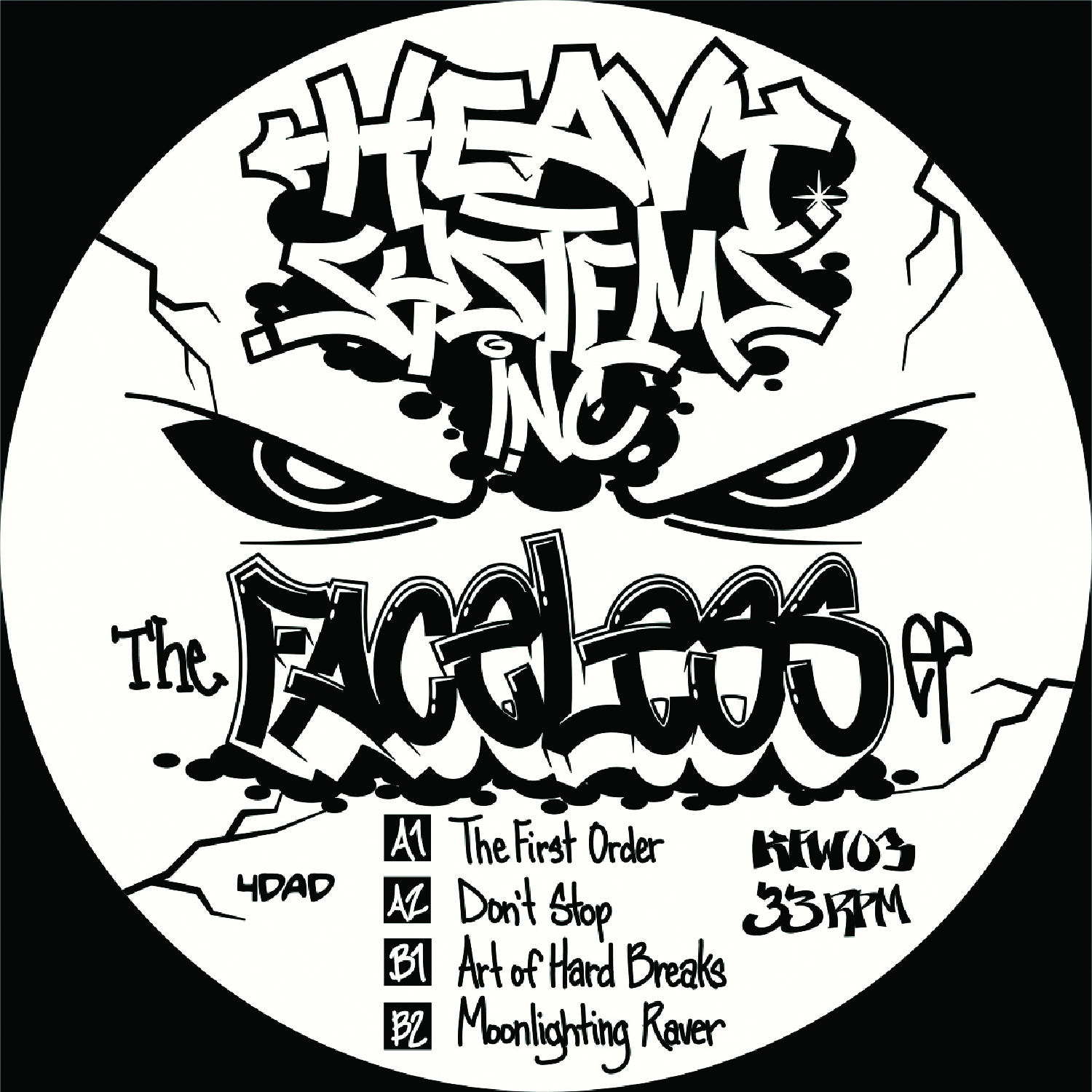 [KFW003] Heavy Systems Inc - The Faceless EP (Digital Only)