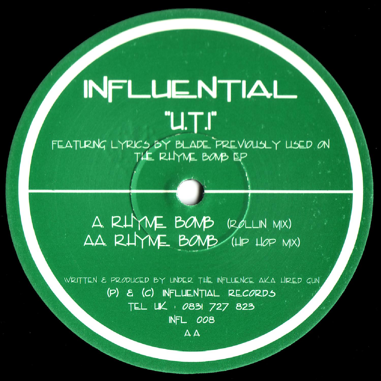 [INFL008] U.T.I - Rhyme Bomb EP (Digital Only)