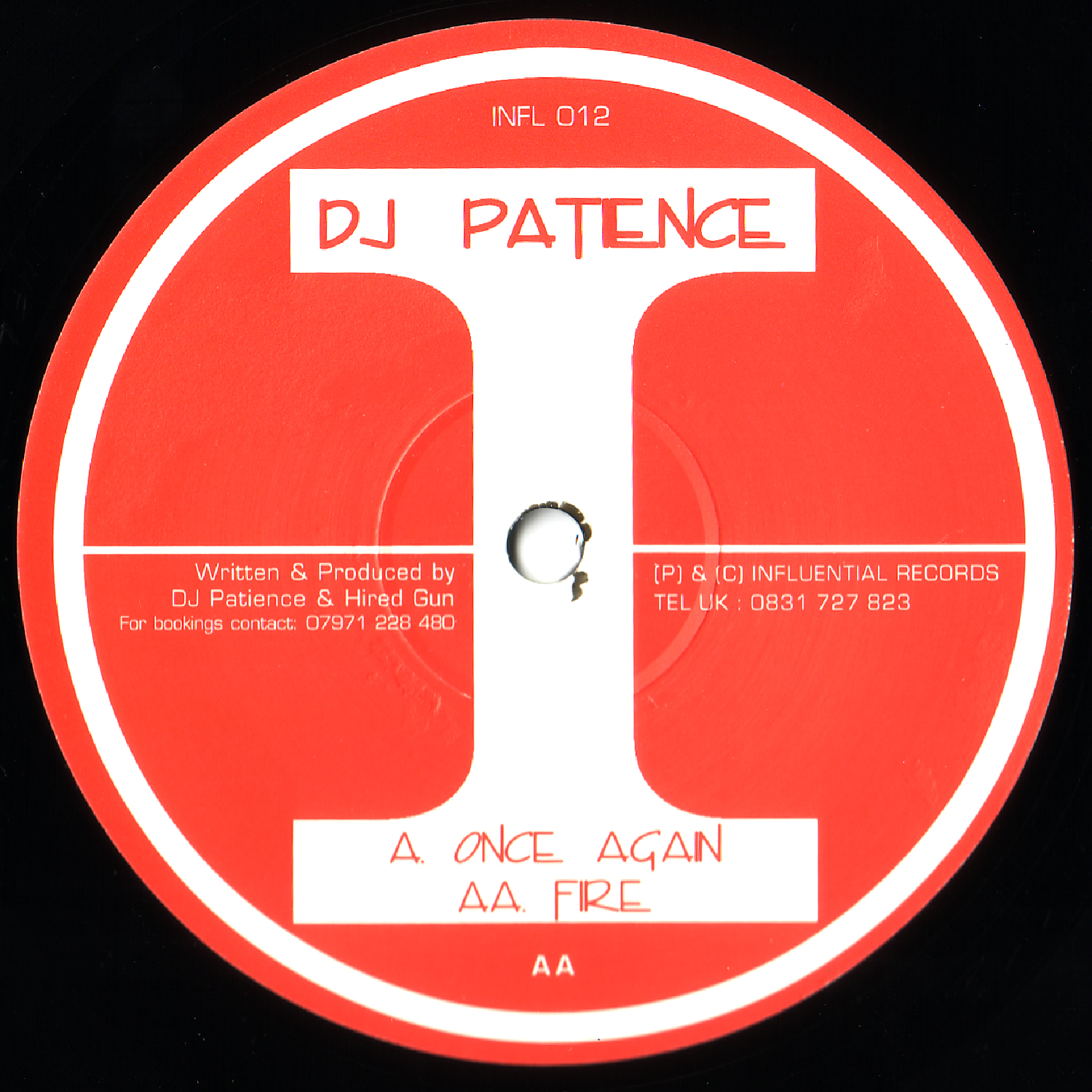 [INFL012] Dj Patience - Once Again EP (Digital Only)