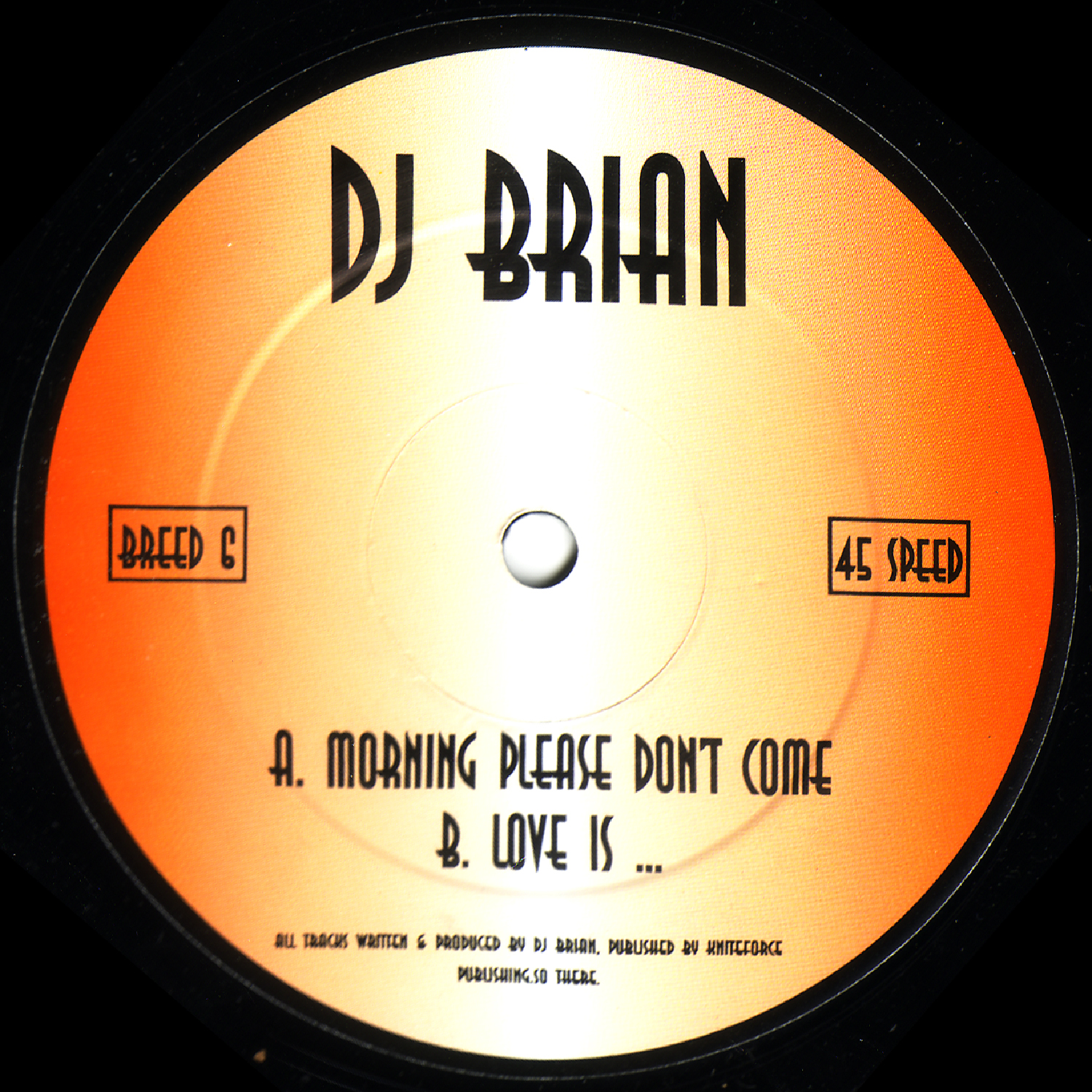 [BREED006] Dj Brian - Morning Please Dont Come EP (Digital Only)