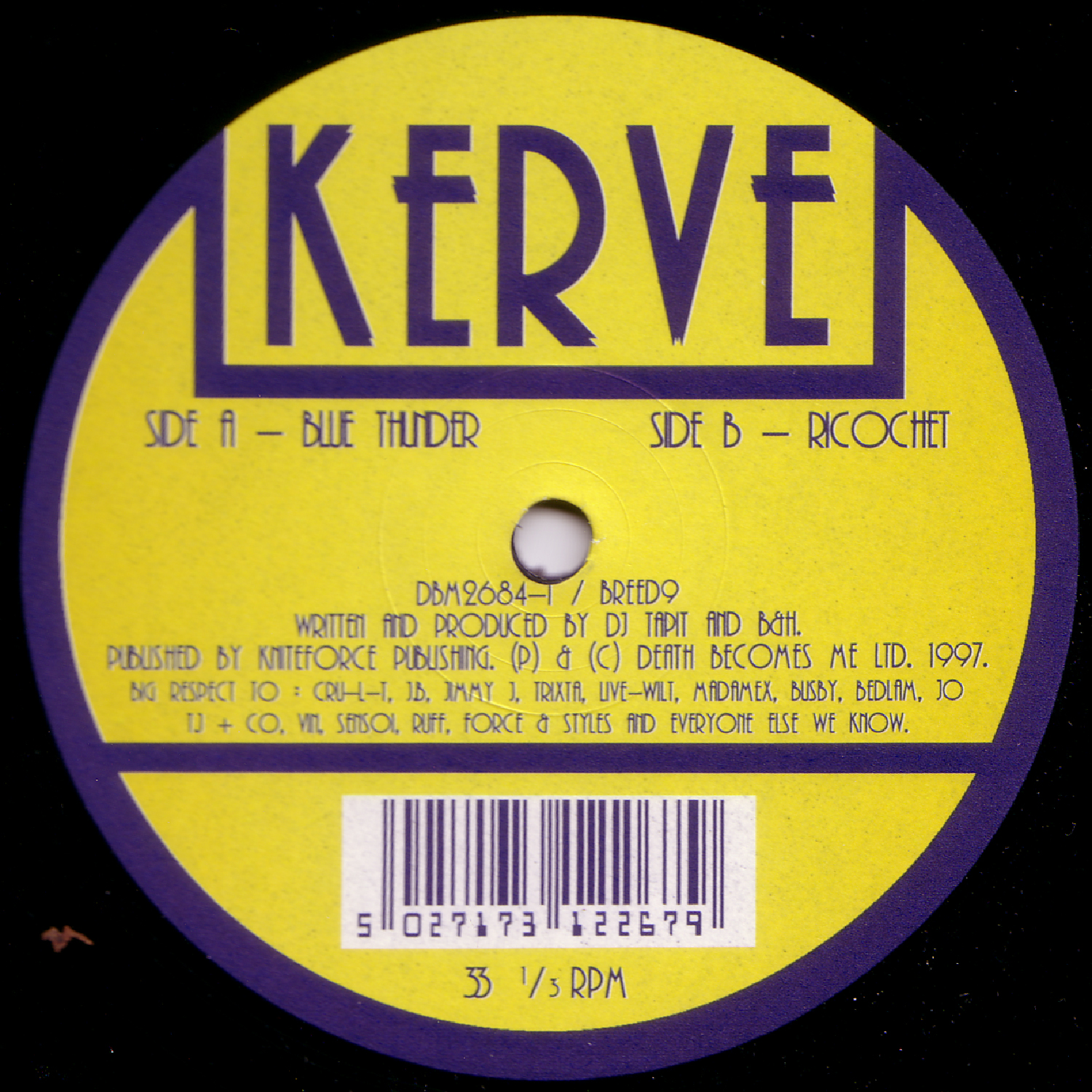 [BREED09] Kerve - Blue Thunder EP (Digital Only)