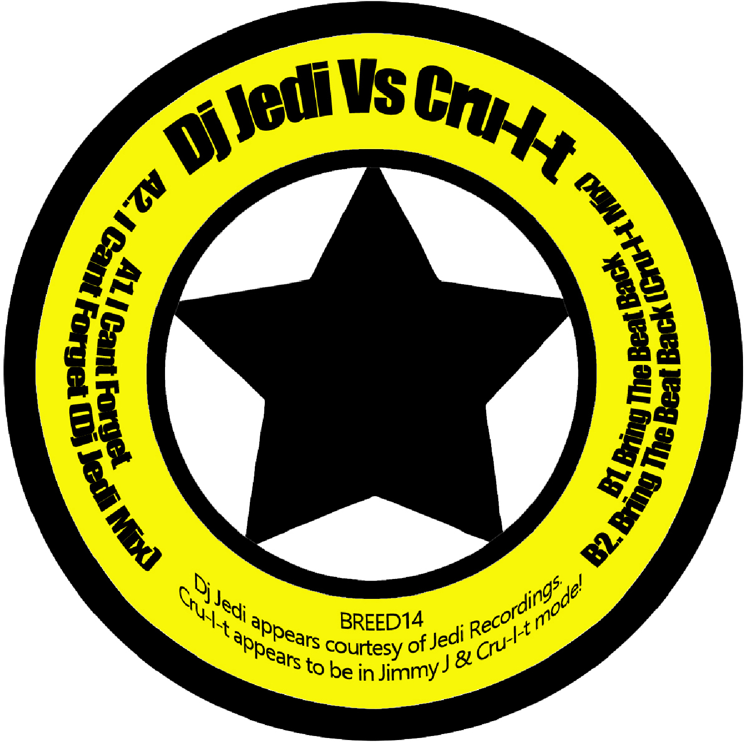 [BREED014] Dj Jedi Vs Cru-l-t - I Cant Forget EP (Digital Only)
