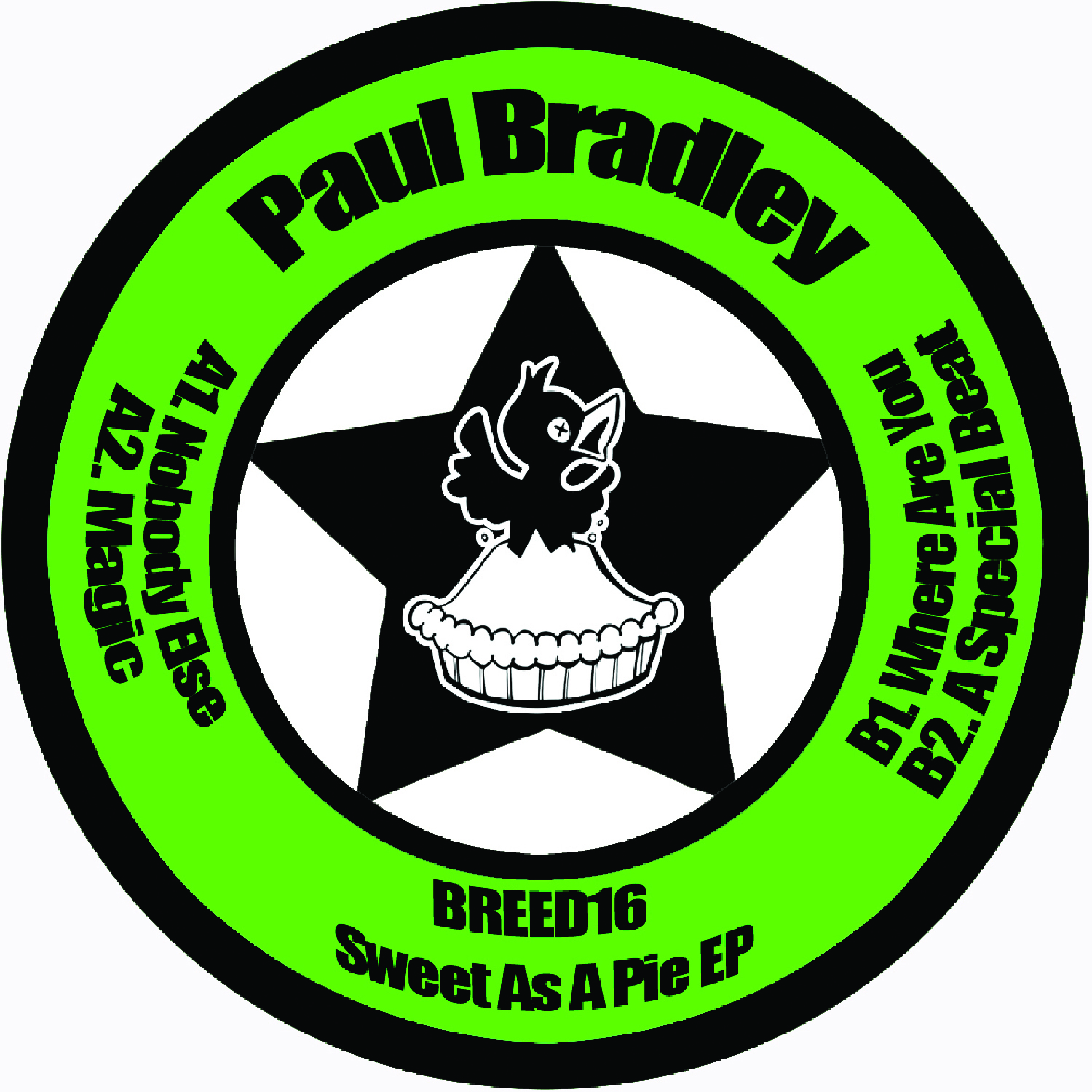 "[BREED016] Paul Bradley - Sweet As A Pie EP (12"" Vinyl + Digital)"