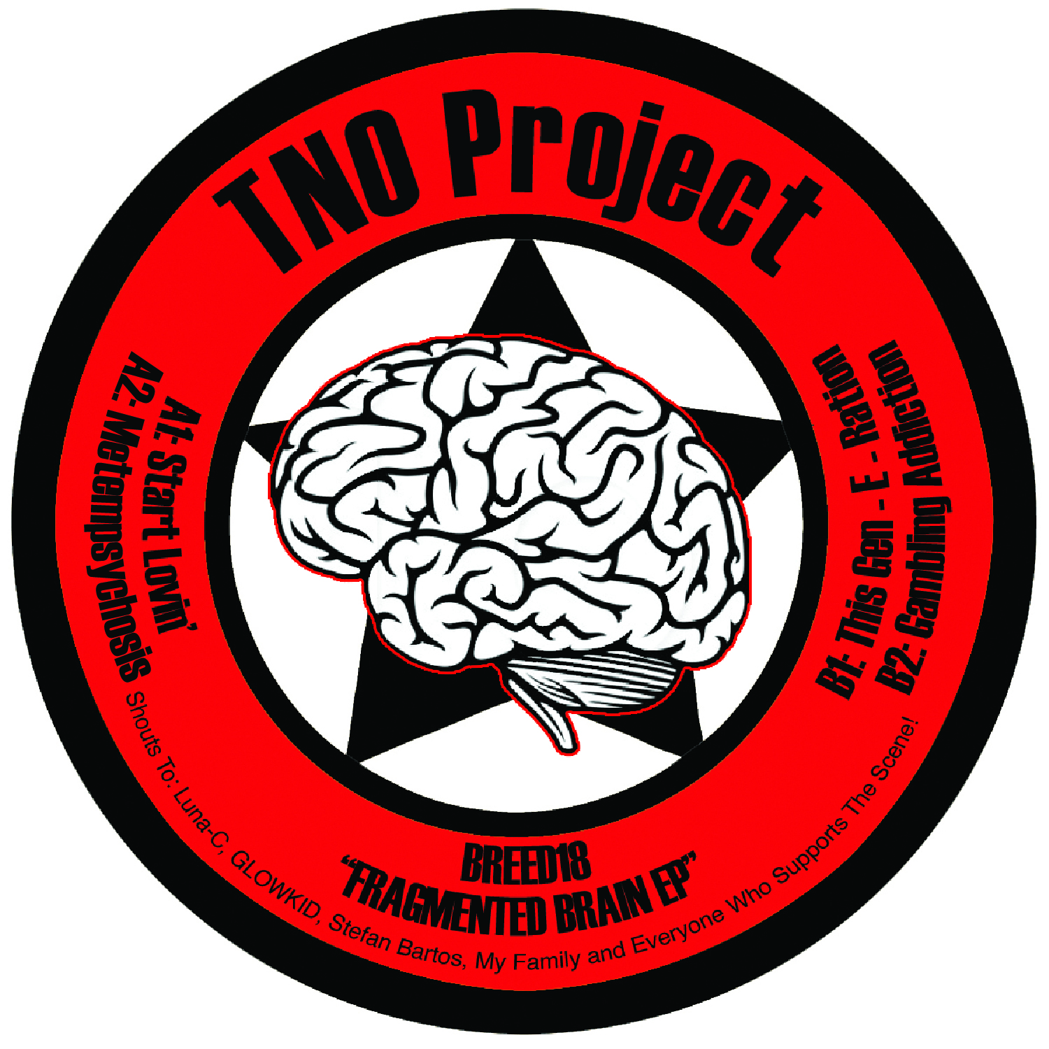 "[BREED018] TNO Project - The Fragemented Brain EP (12"" Vinyl + Digital)"