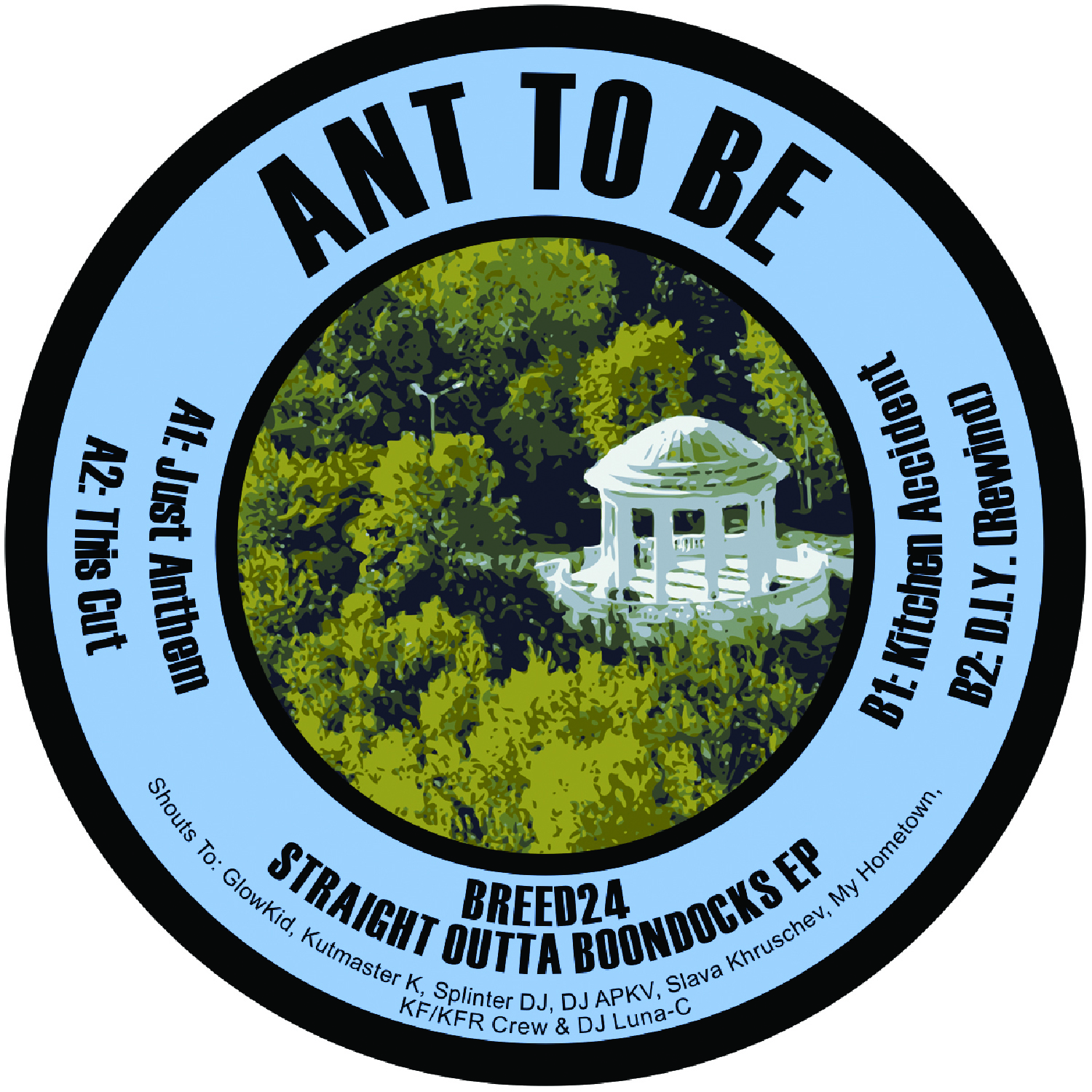 "[BREED024] Ant To Be - Straight Outta Boondocks EP (12"" Vinyl + Digital)"
