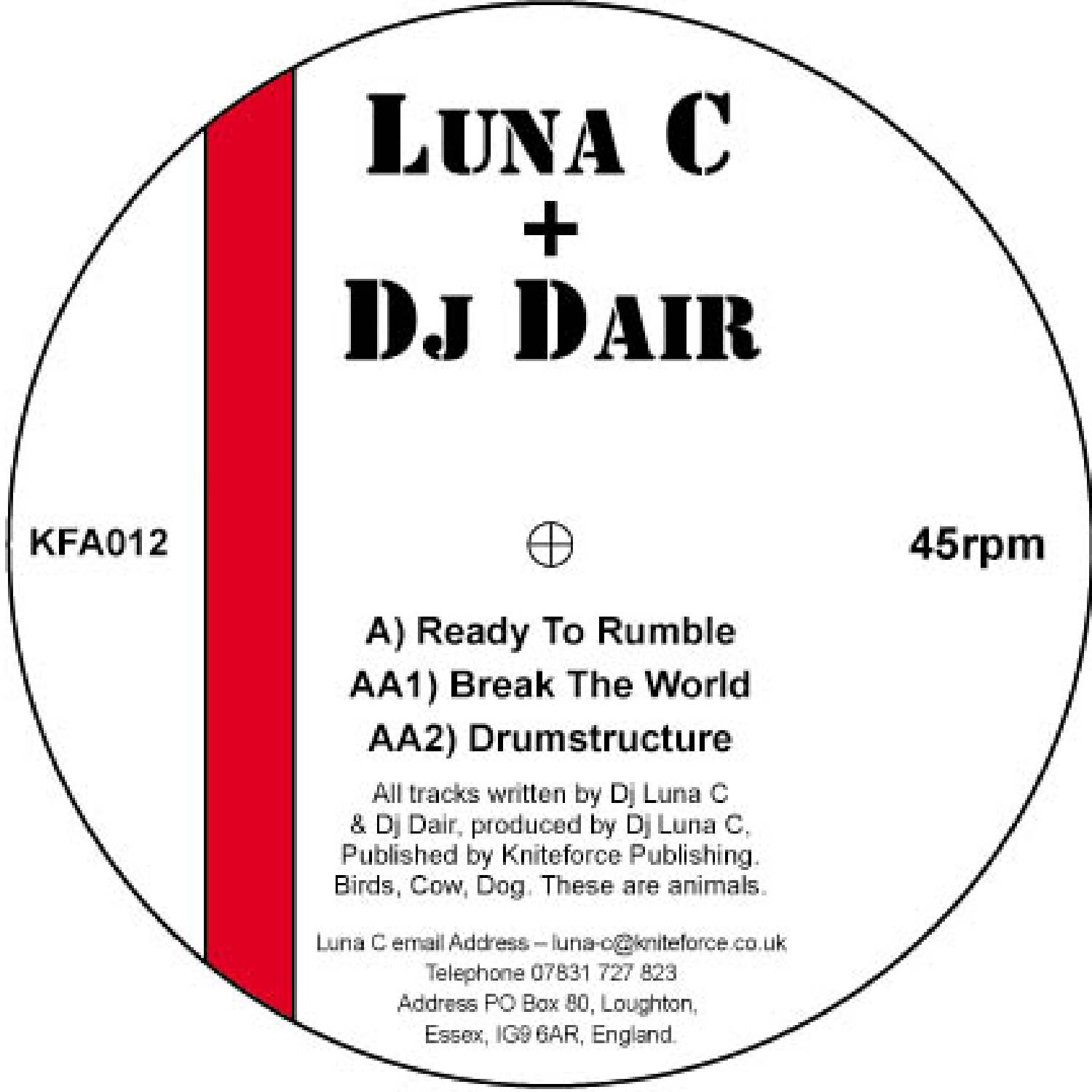 [KFA012] Luna-C & Dair - Ready To Rumble EP (Digital Only)