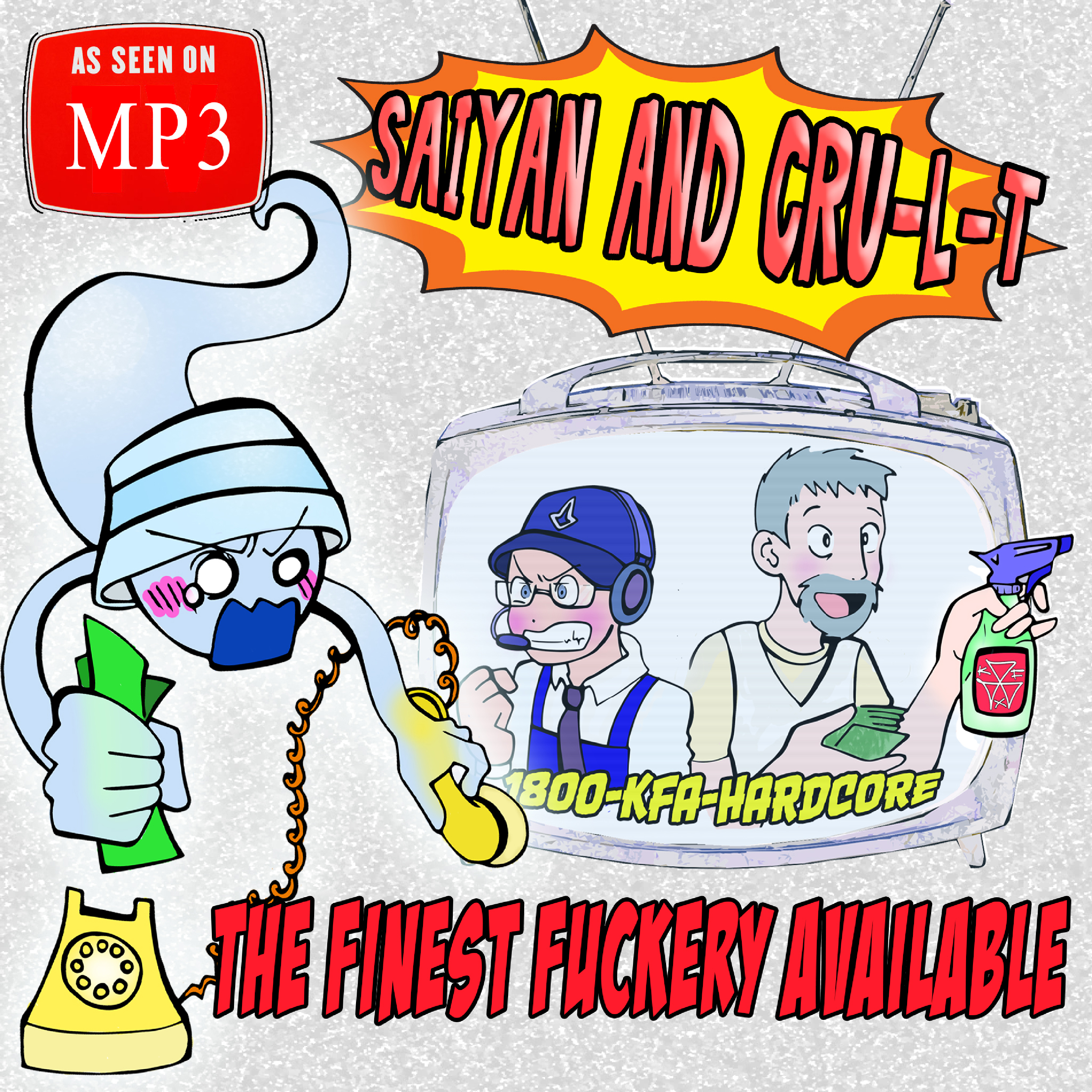 [KFA074] Saiyan & Cru-l-t - The Finest Fuckery Available EP (Digital Only)