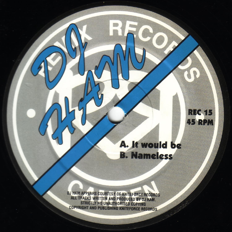 [REC015] DJ Ham - It Would Be EP (Digital Only)