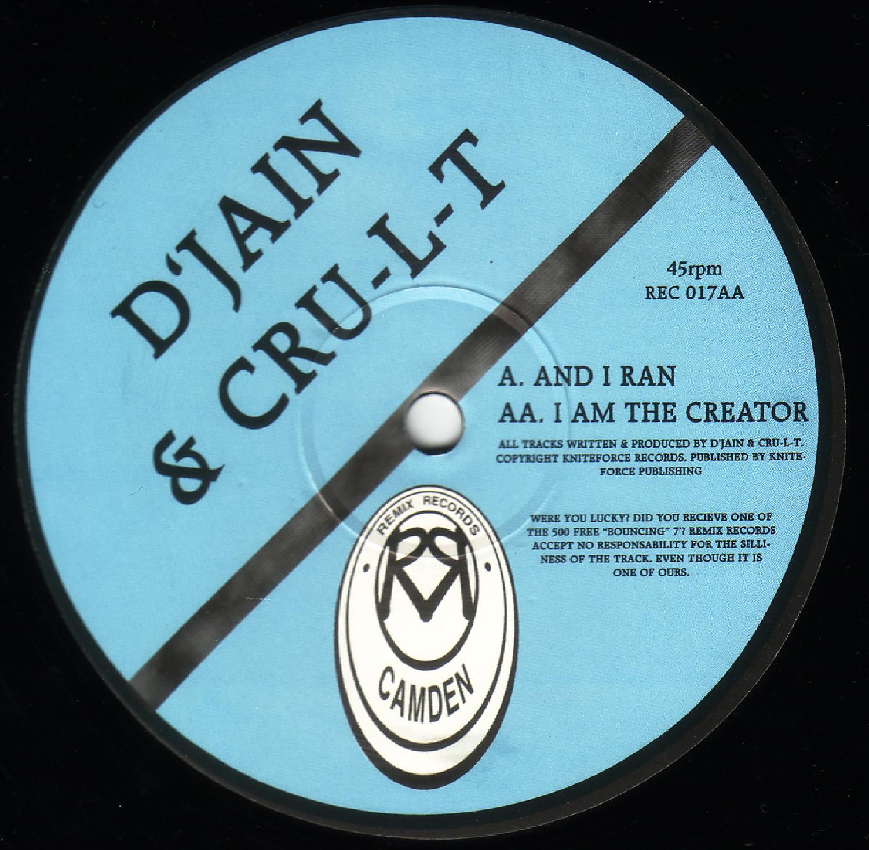 [REC017] DJain & Cru-l-t - And i Ran EP (Digital Only)