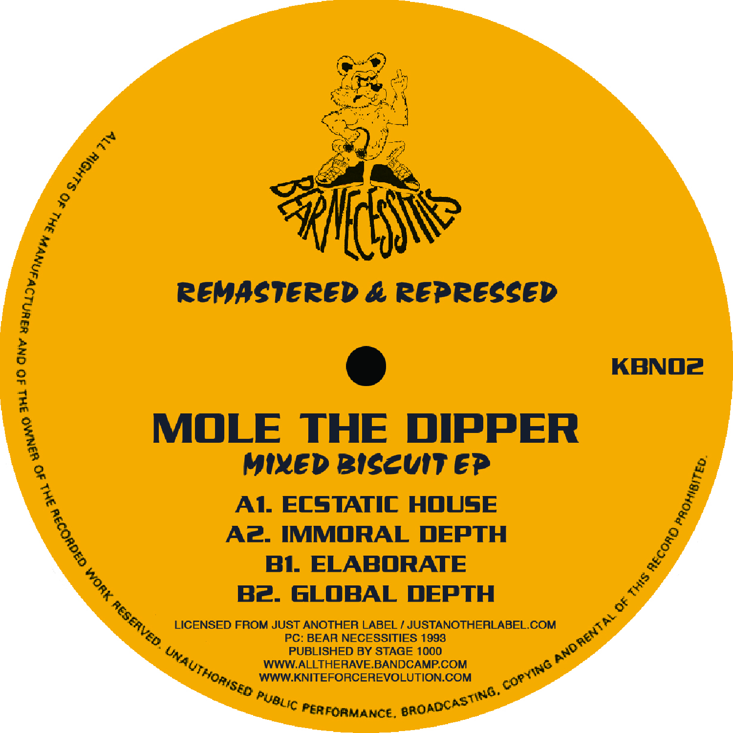 "[KBN02] Mole The Dipper - Mixed Biscuit EP (12"" Vinyl + Digital)"