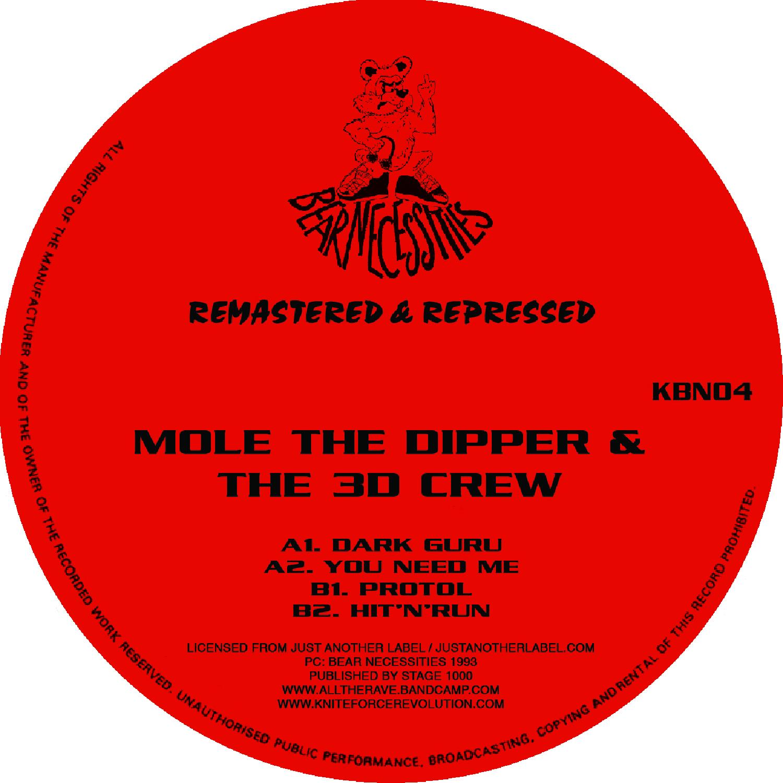 "[KBN04] Mole The Dipper & The 3D Crew - Dark Guru EP (12"" Vinyl + Digital)"