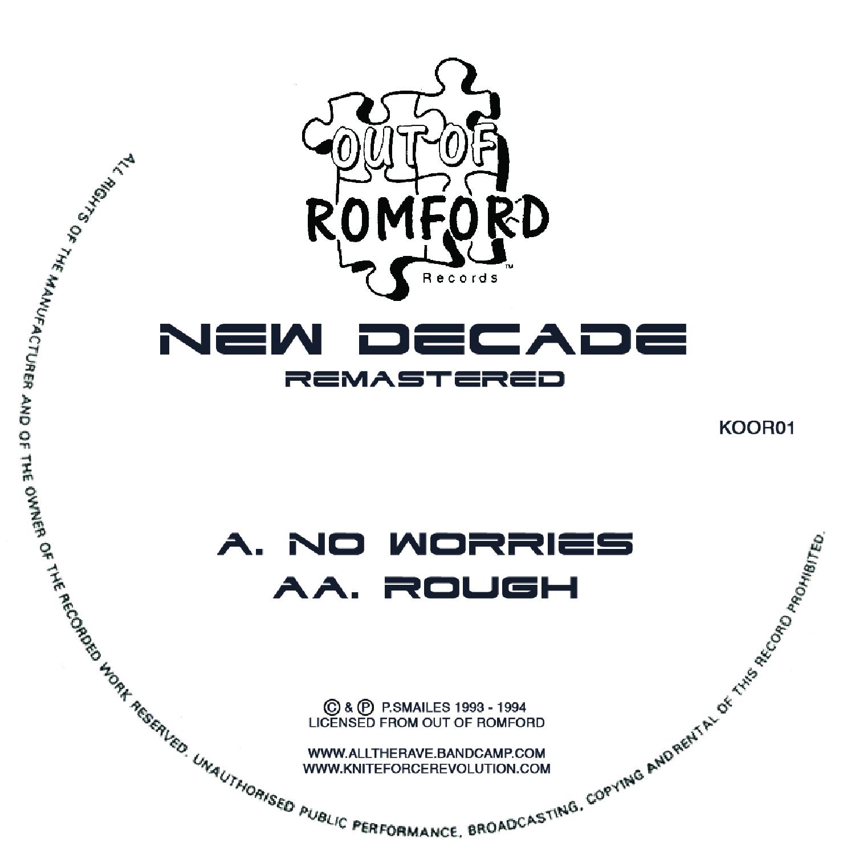 """[KOOR01] New Decade - No Worries EP (12"""" Vinyl + Digital)"""