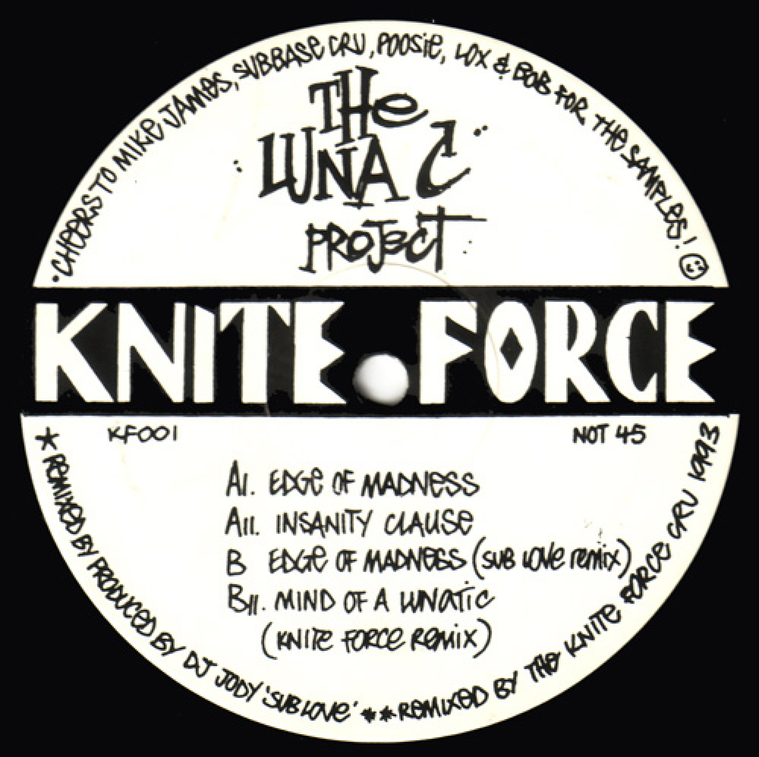 [KF001] Luna-C - Edge Of Madness EP (Digital Only)