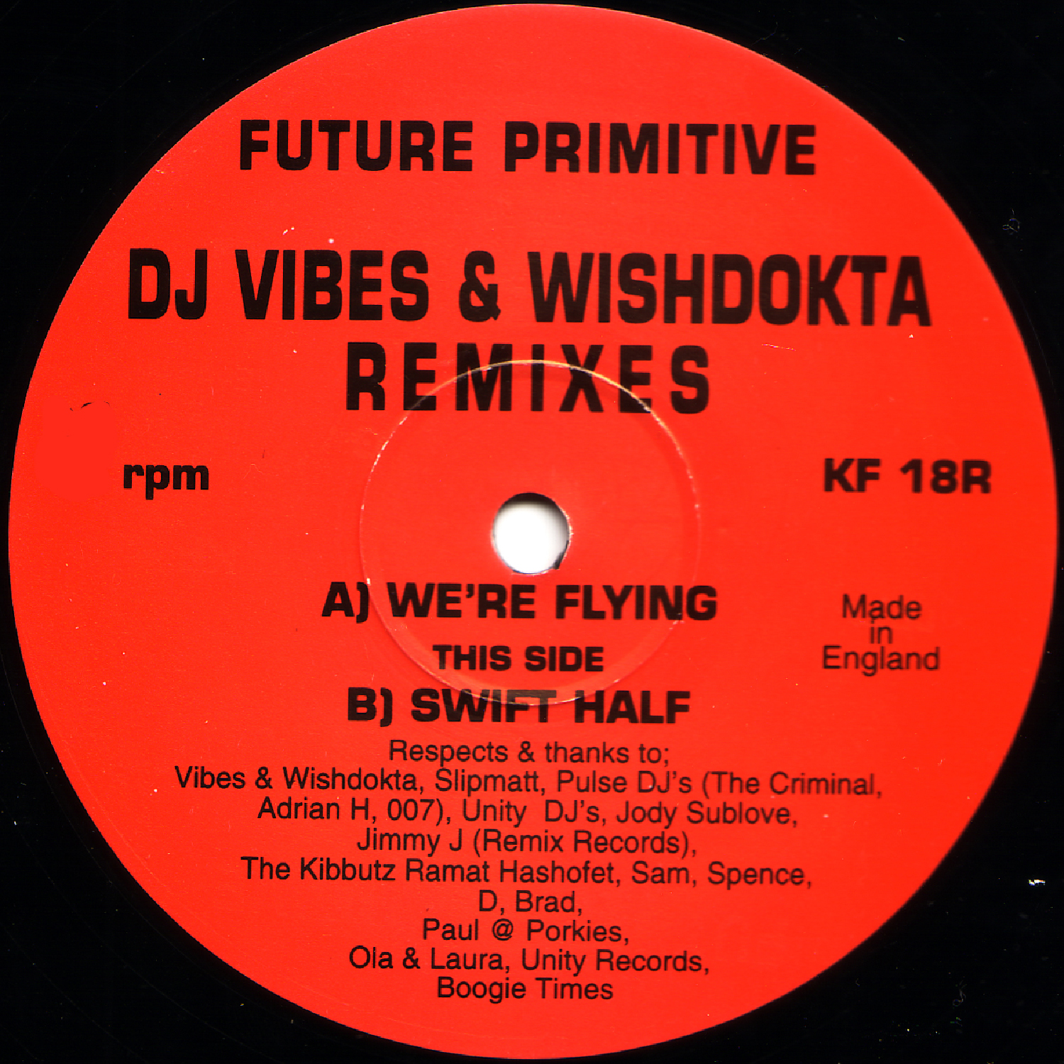 [KF018R] Future Primitive - Swift Half Remixes (Digital Only)