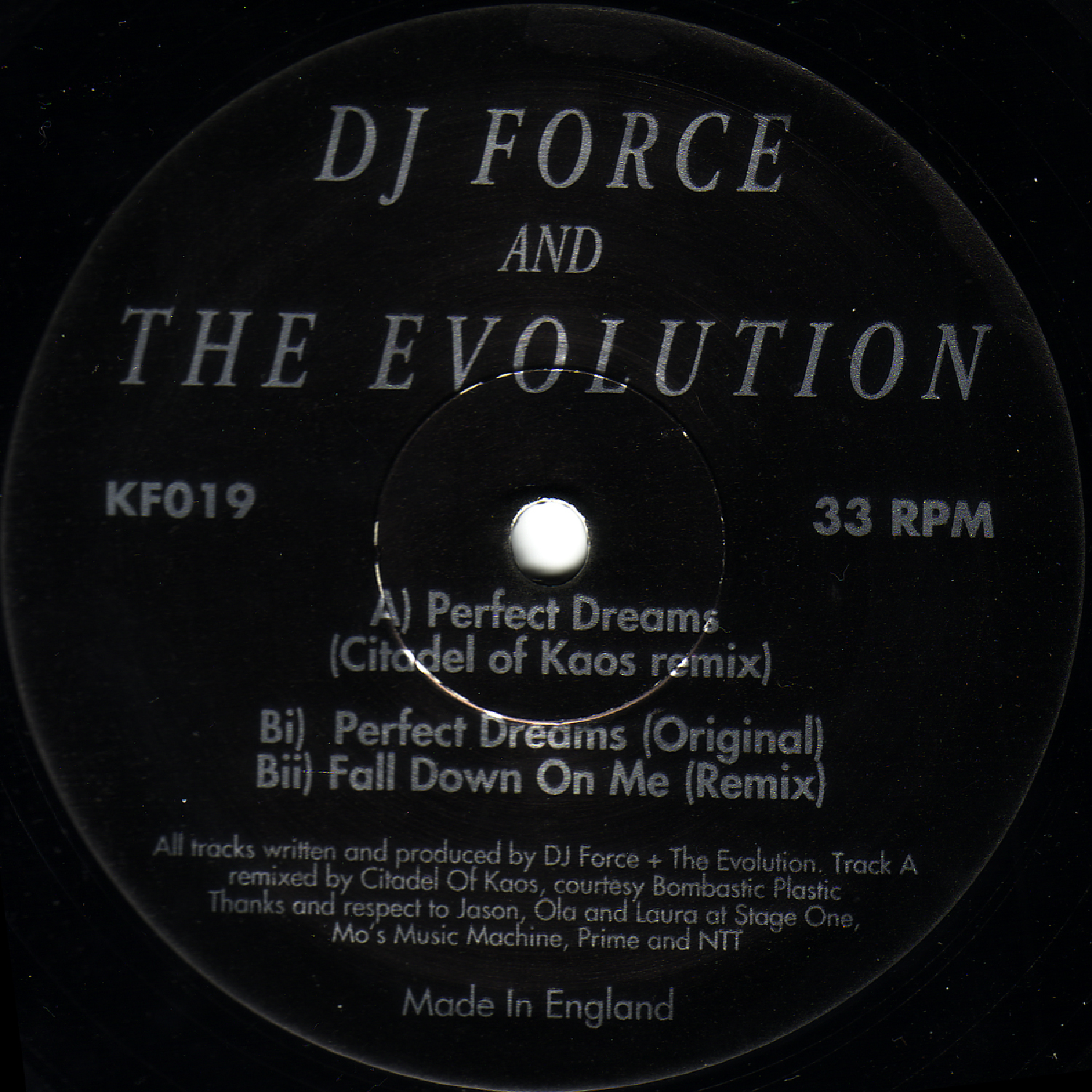 [KF019] DJ Force & The Evolution - Perfect Dreams Remixes EP (Digital Only)