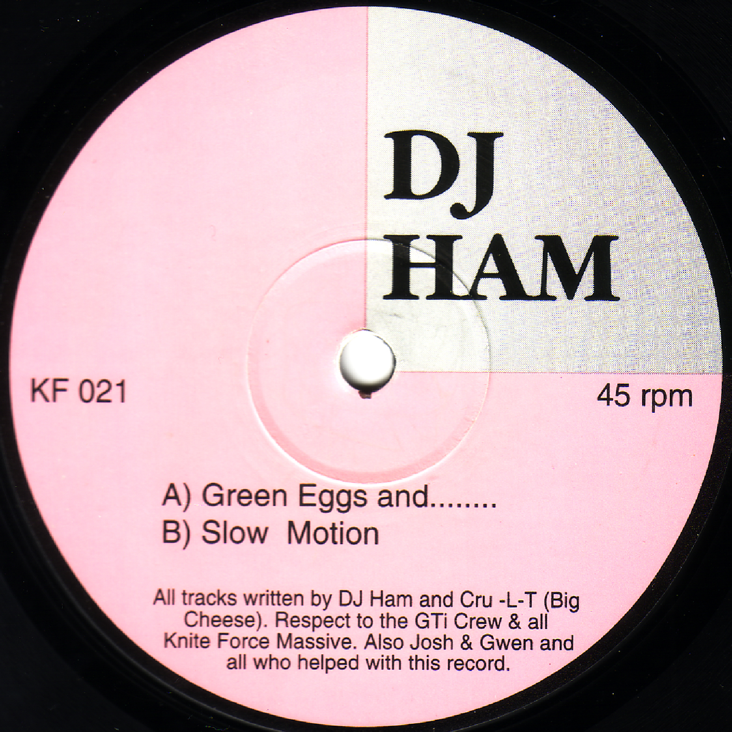 [KF021] DJ Ham - Green Eggs And....EP (Digital Only)