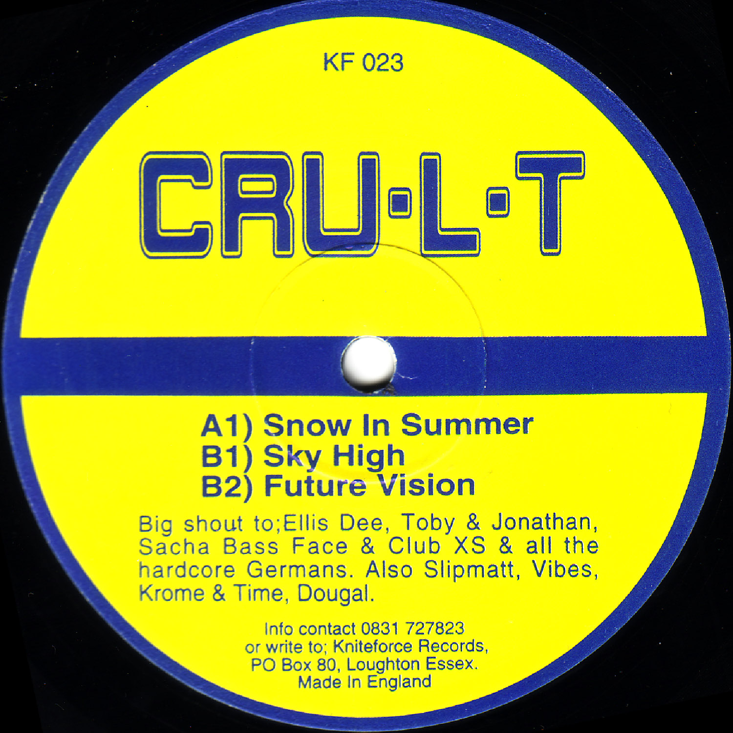 [KF023] Cru-l-t - Snow In Summer EP (Digital Only)