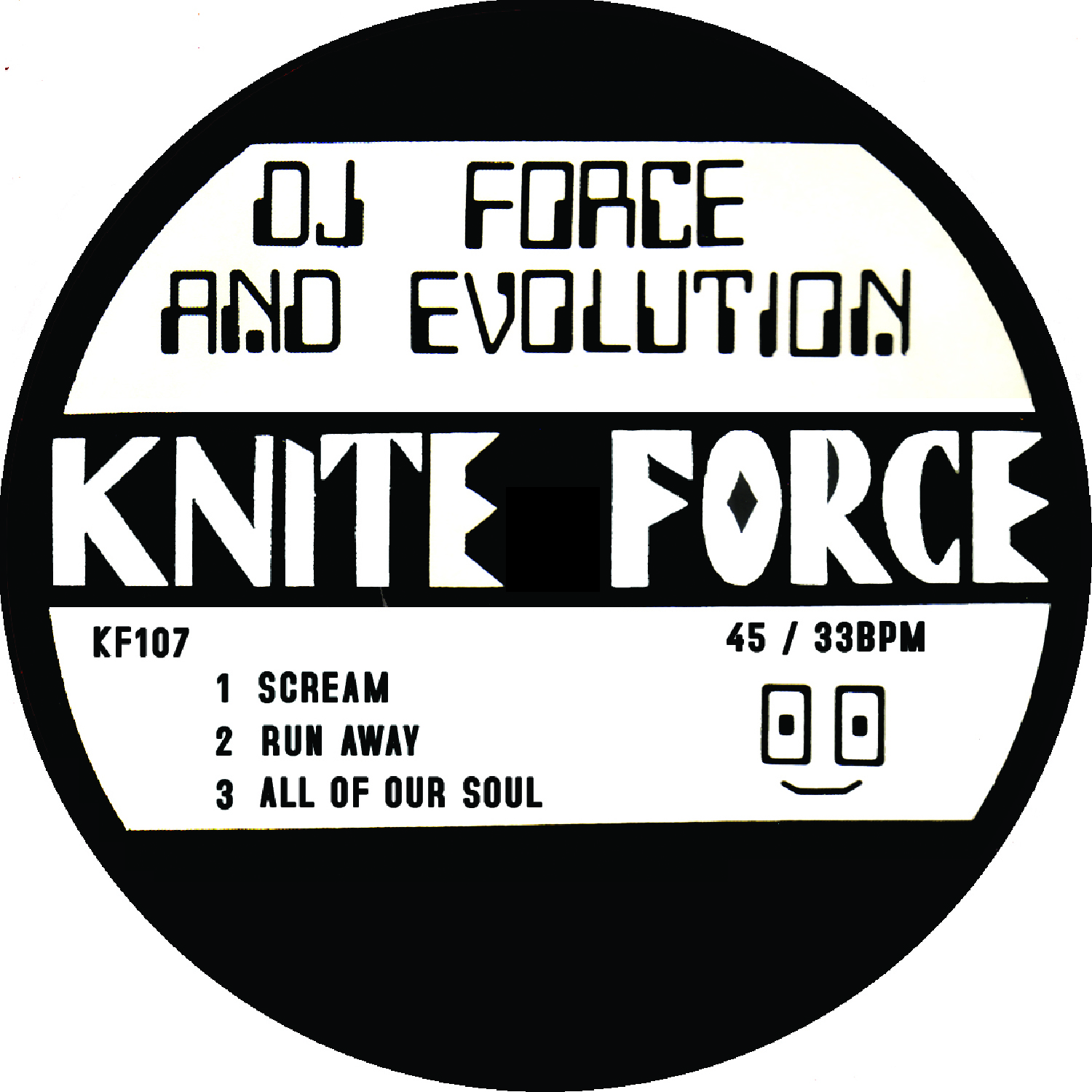 "[KF107] DJ Force & The Evolution - Scream EP (12"" Vinyl + Digital)"
