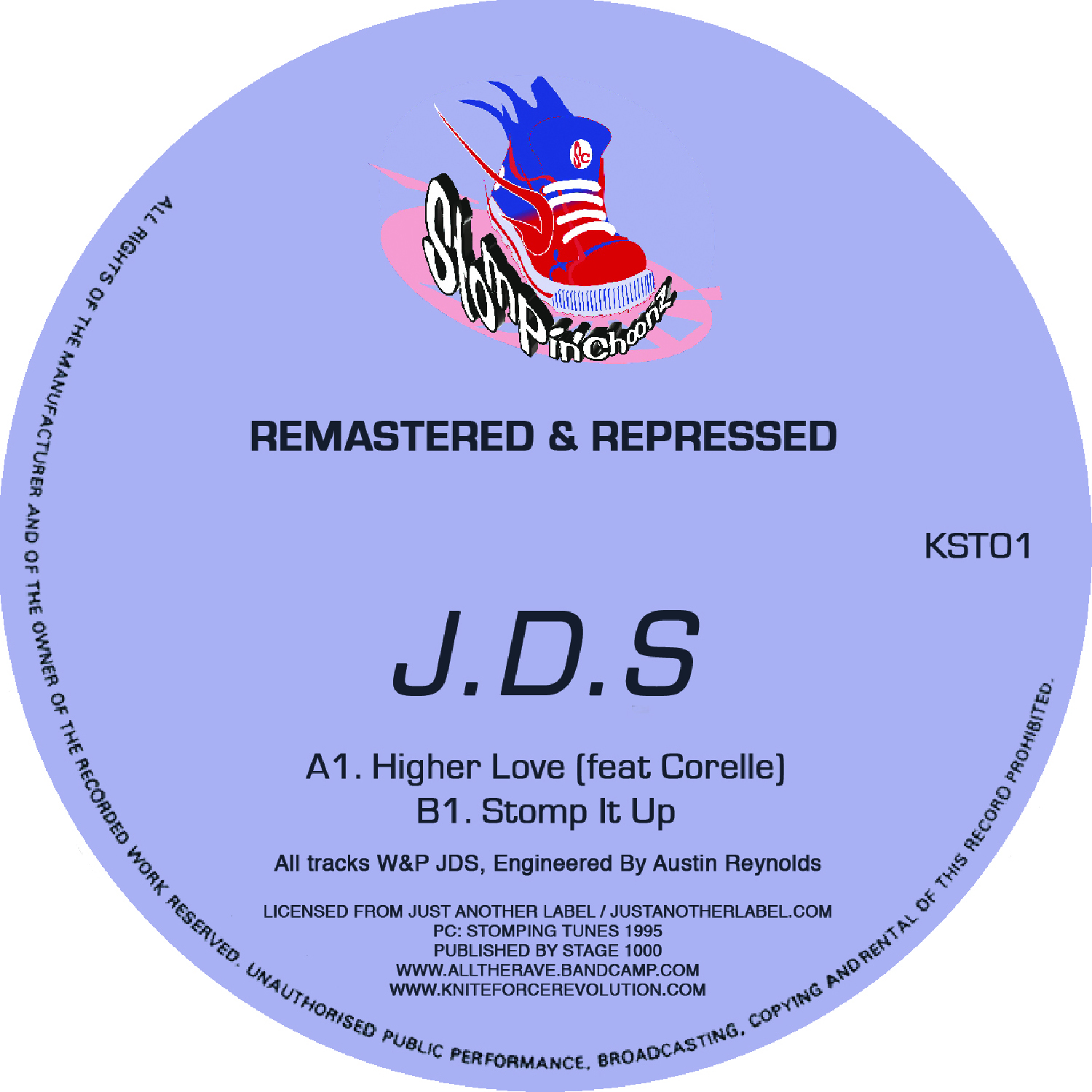 "[KST01] JDS - Higher Love EP (Remastered) (12"" Vinyl + Digital)"