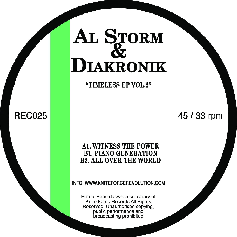 "[REC025] Al Storm & Diakronik - Timeless EP Vol.2 (12"" Vinyl + Digital)"