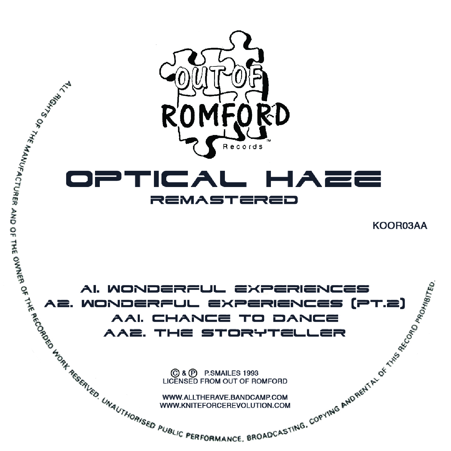 "[KOOR03] Optical Haze - Wonderful Experiences EP (Remastered) (12"" Vinyl + Digital)"