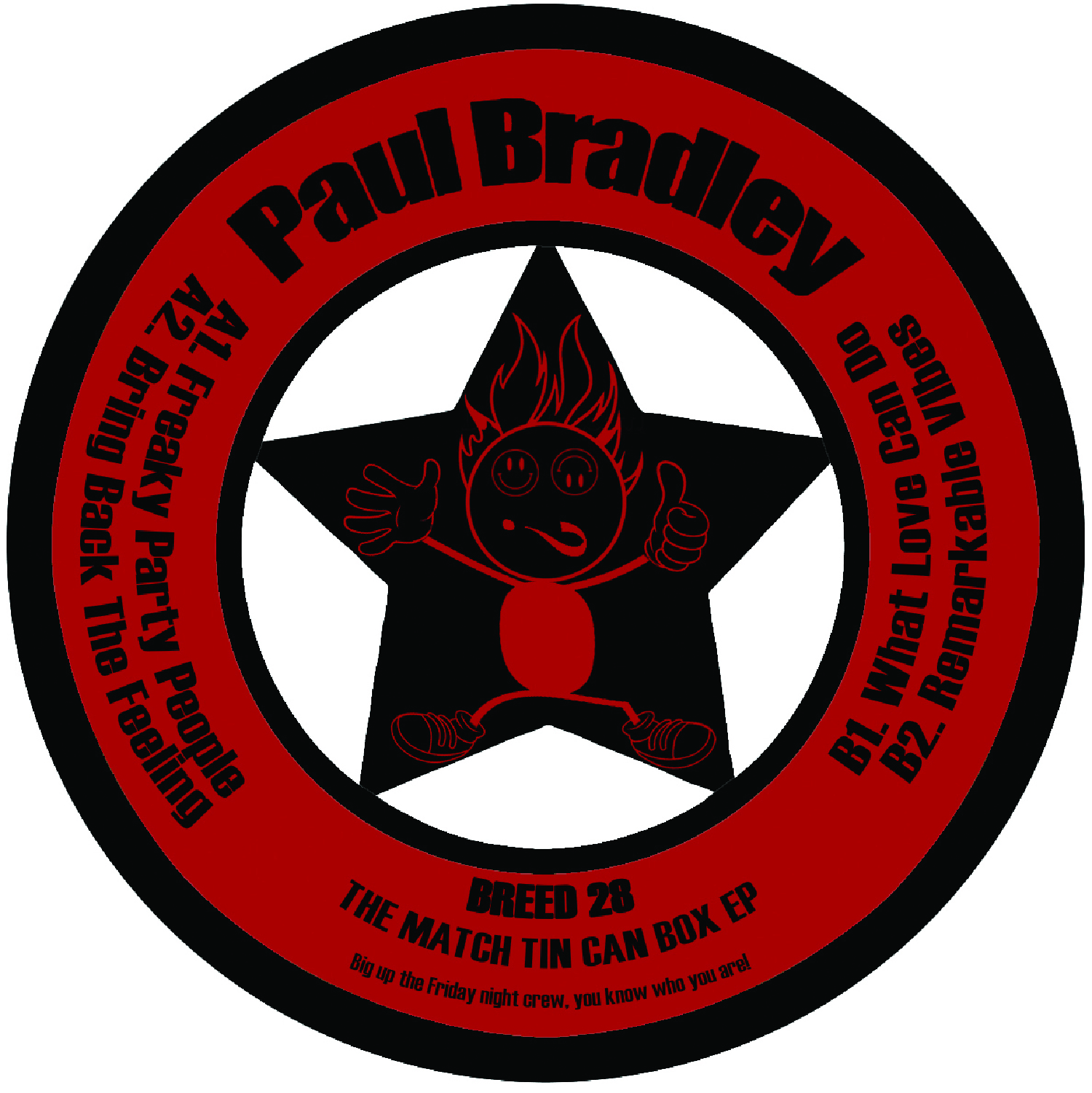 "[BREED028] Paul Bradley - The Match Tin Can Box EP (12"" Vinyl + Digital)"
