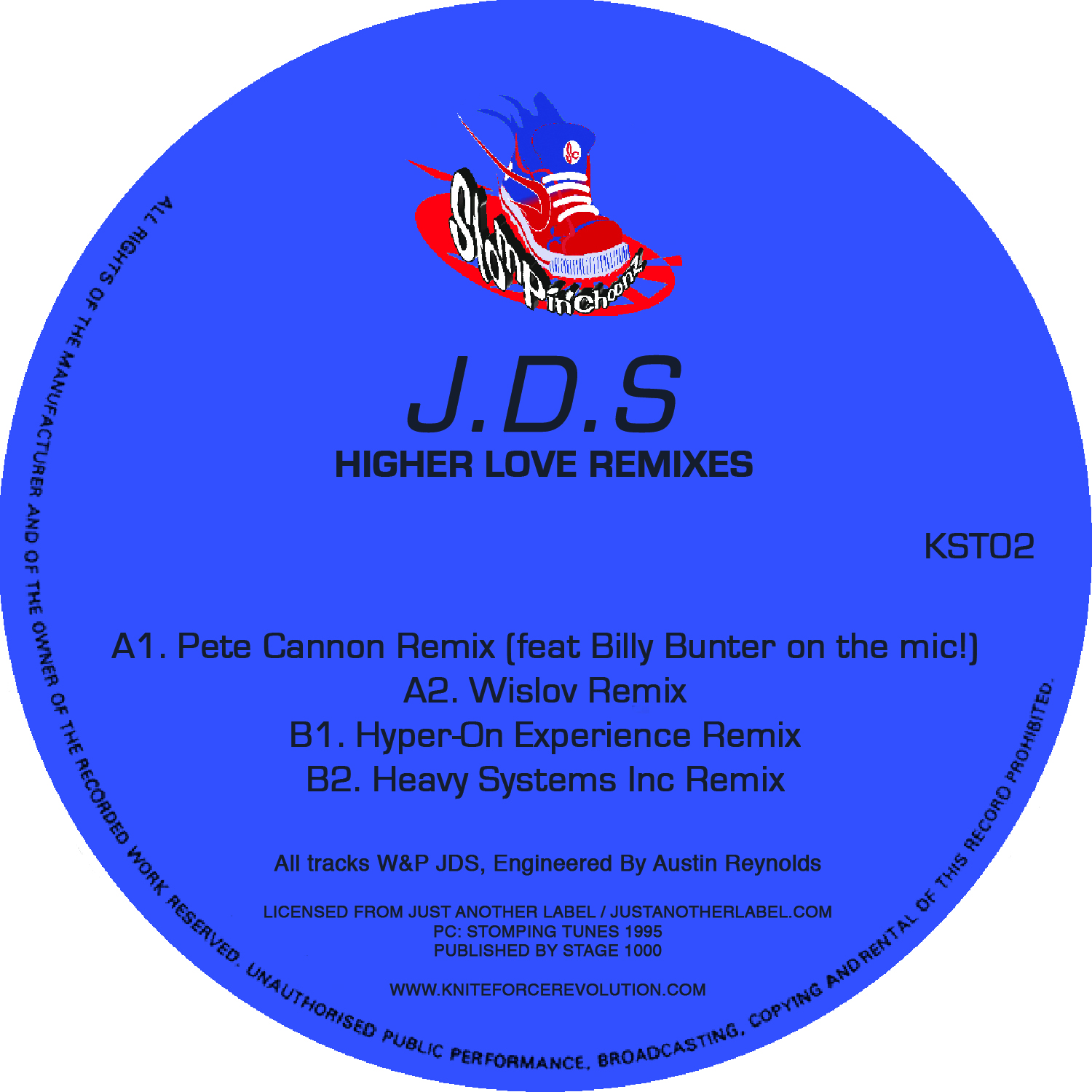 "[KST02] JDS - Higher Love Remixes EP (12"" Vinyl + Digital)"