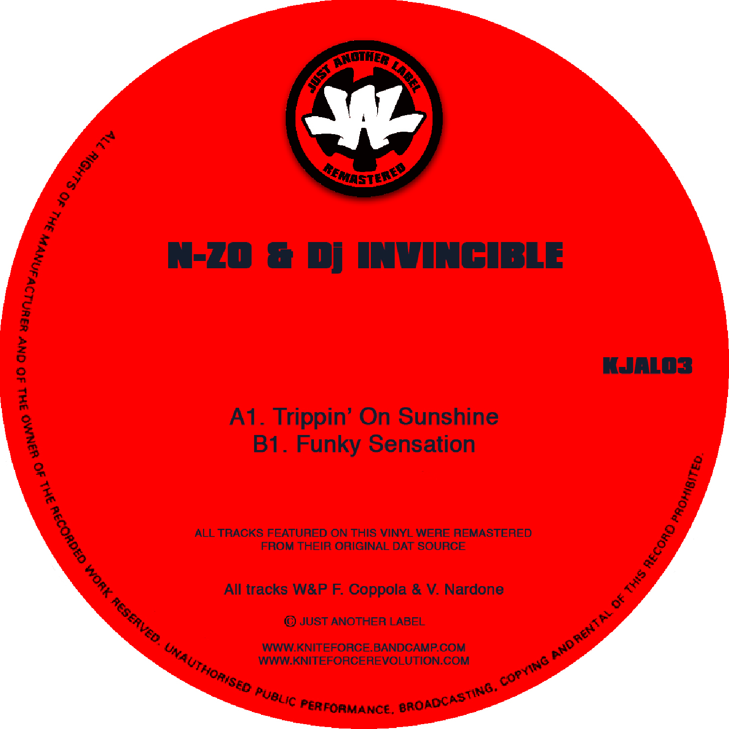 "[KJAL03] N-Zo & Invincible - Trippin' On Sunshine EP (12"" Vinyl + Digital)"